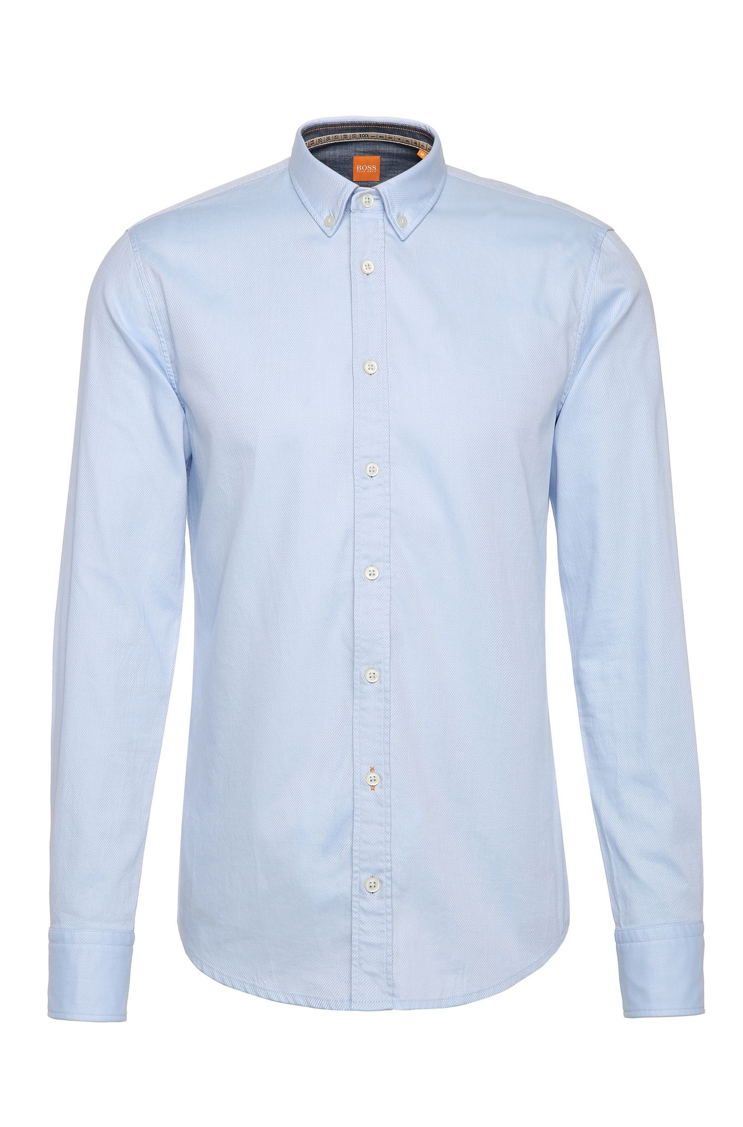 Textured slim-fit shirt in cotton: 'EdipoE'