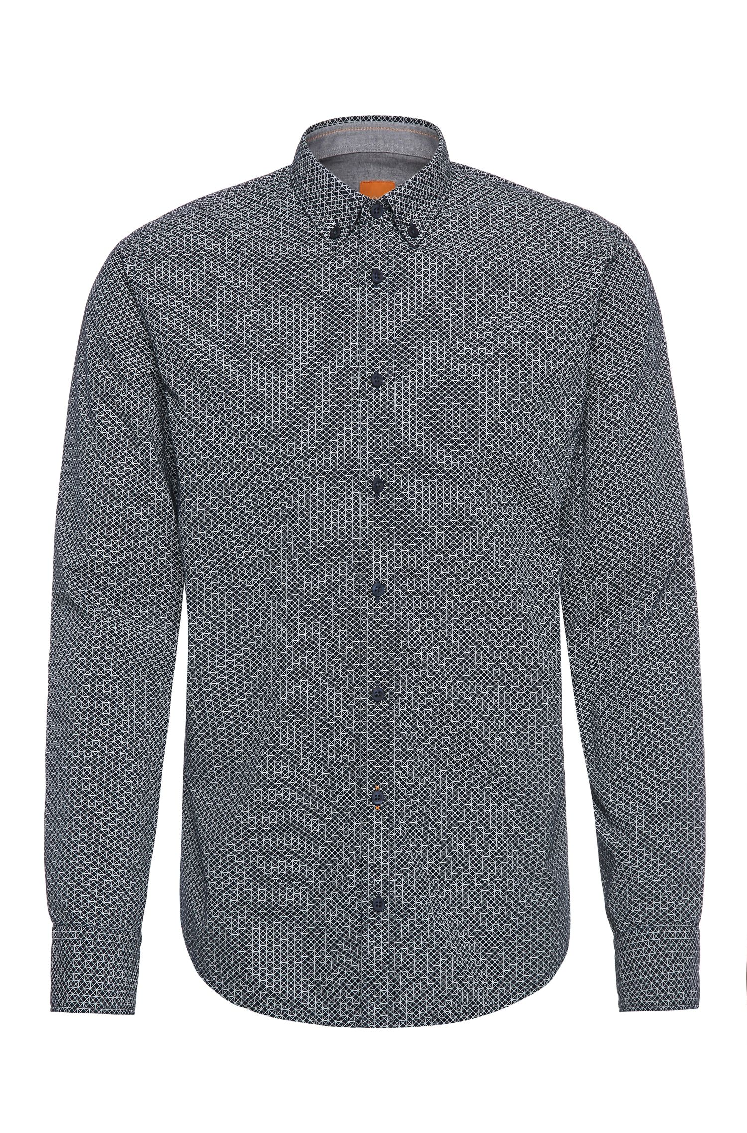 Patterned slim-fit shirt in cotton: 'EdipoE'