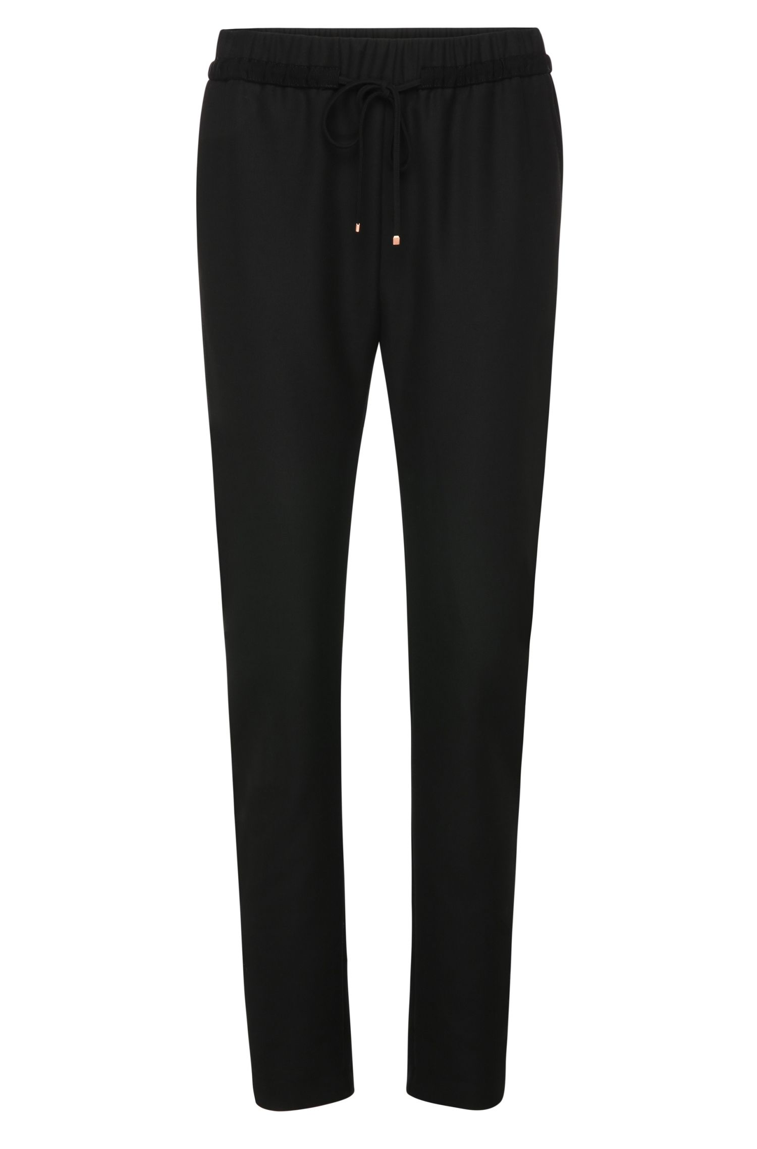 Drawstring trousers in a stretchy fabric blend: 'Sadotty'
