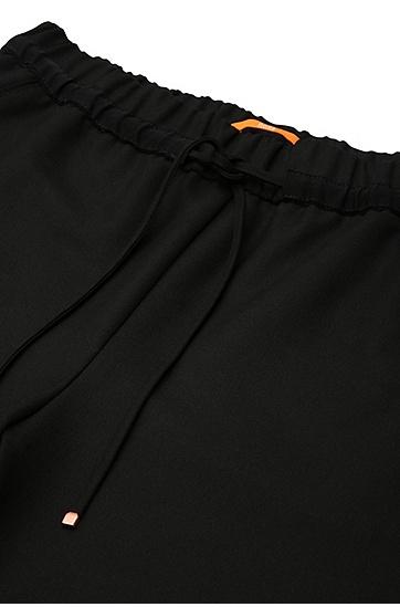 Tunnelzughose aus elastischem Material-Mix: ´Sadotty`, Schwarz