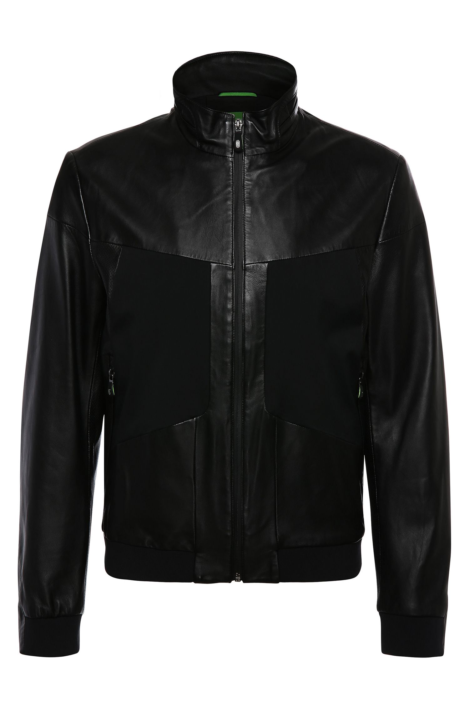 Leather jacket in bomber jacket style: 'Jorgen'