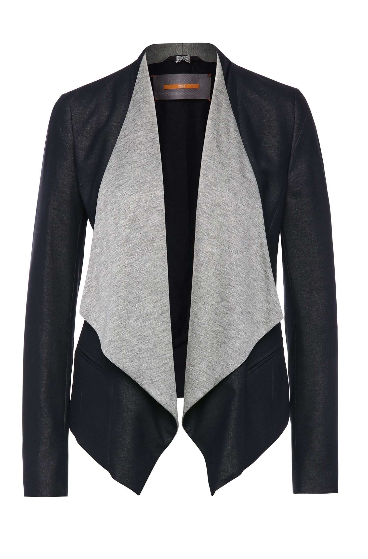 Open short blazer in viscose blend with cowl neckline: 'Onjana'