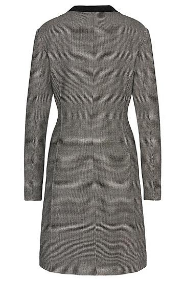 Mantel aus elastischem Woll-Mix mit Hahnentritt-Muster: 'Cucina1', Gemustert