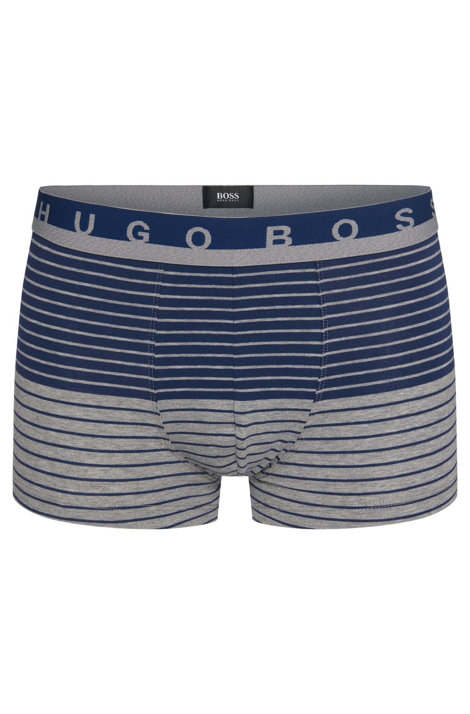 Striped boxer shorts in stretch cotton: 'Trunk Stripe'