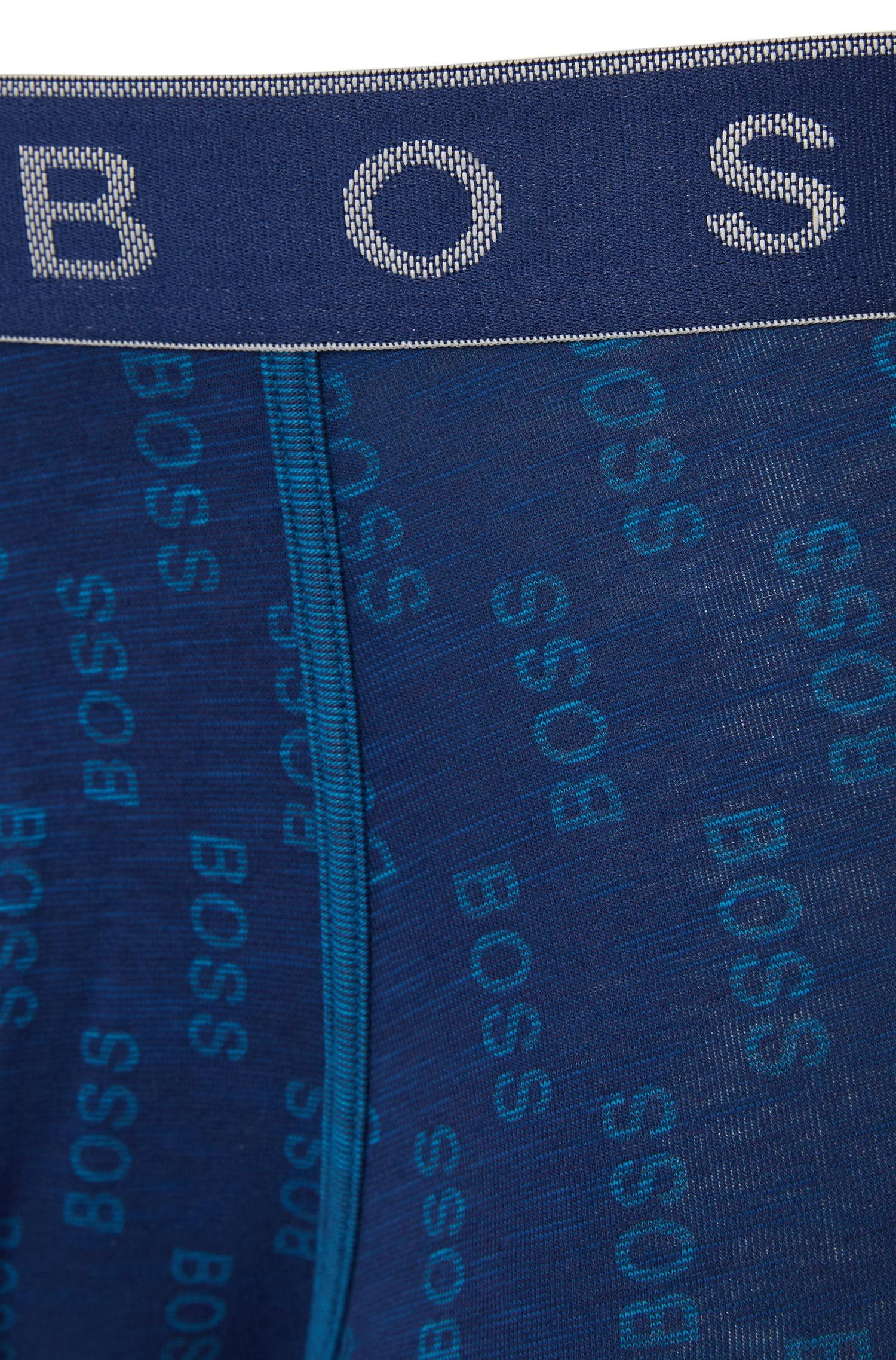 Gemusterte Boxershorts aus Stretch-Baumwolle: 'Trunk Logo Overprint'