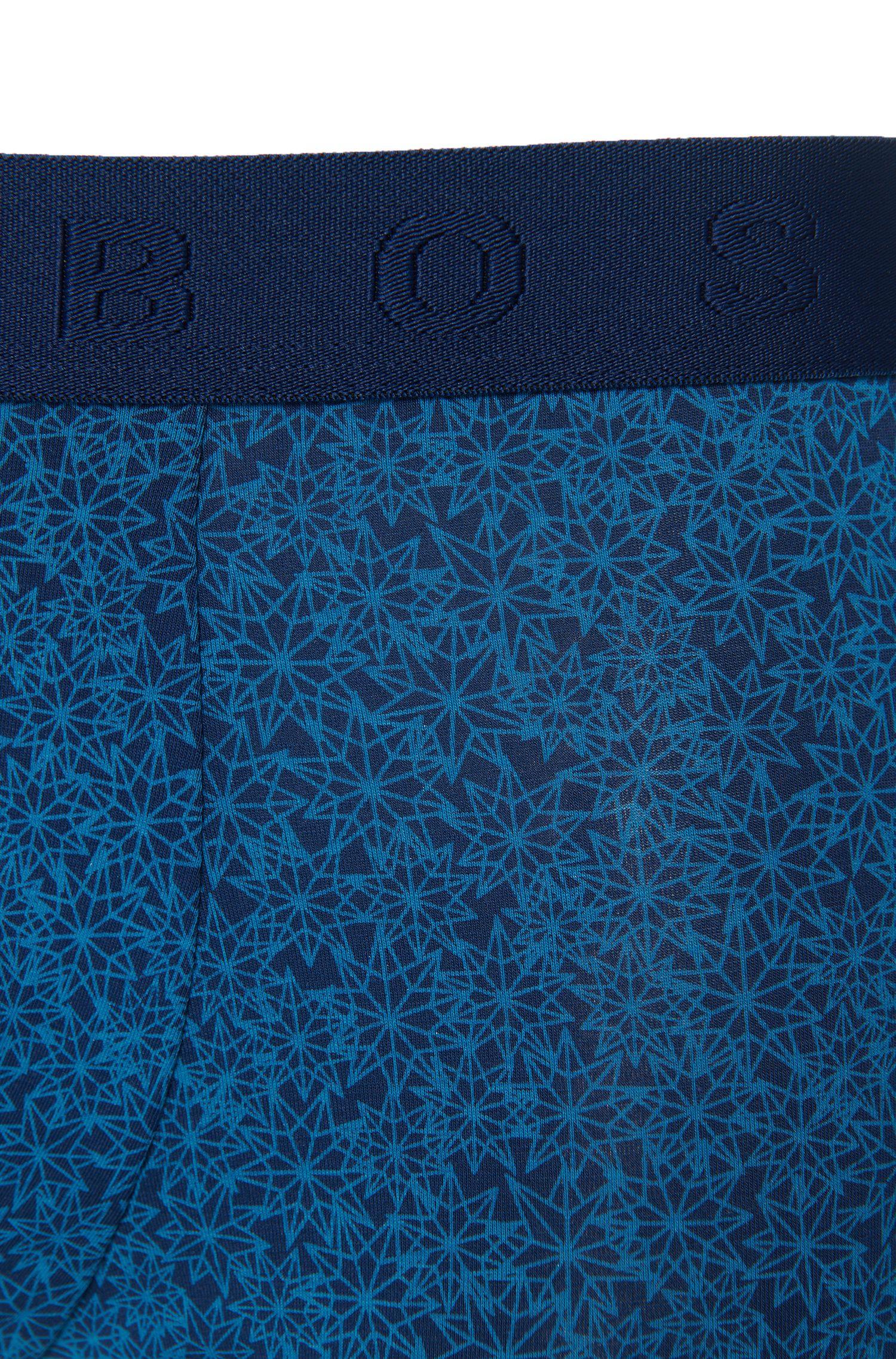 Gemusterte Boxershorts aus elastischem Baumwoll-Modal-Mix: 'Trunk Microprint'