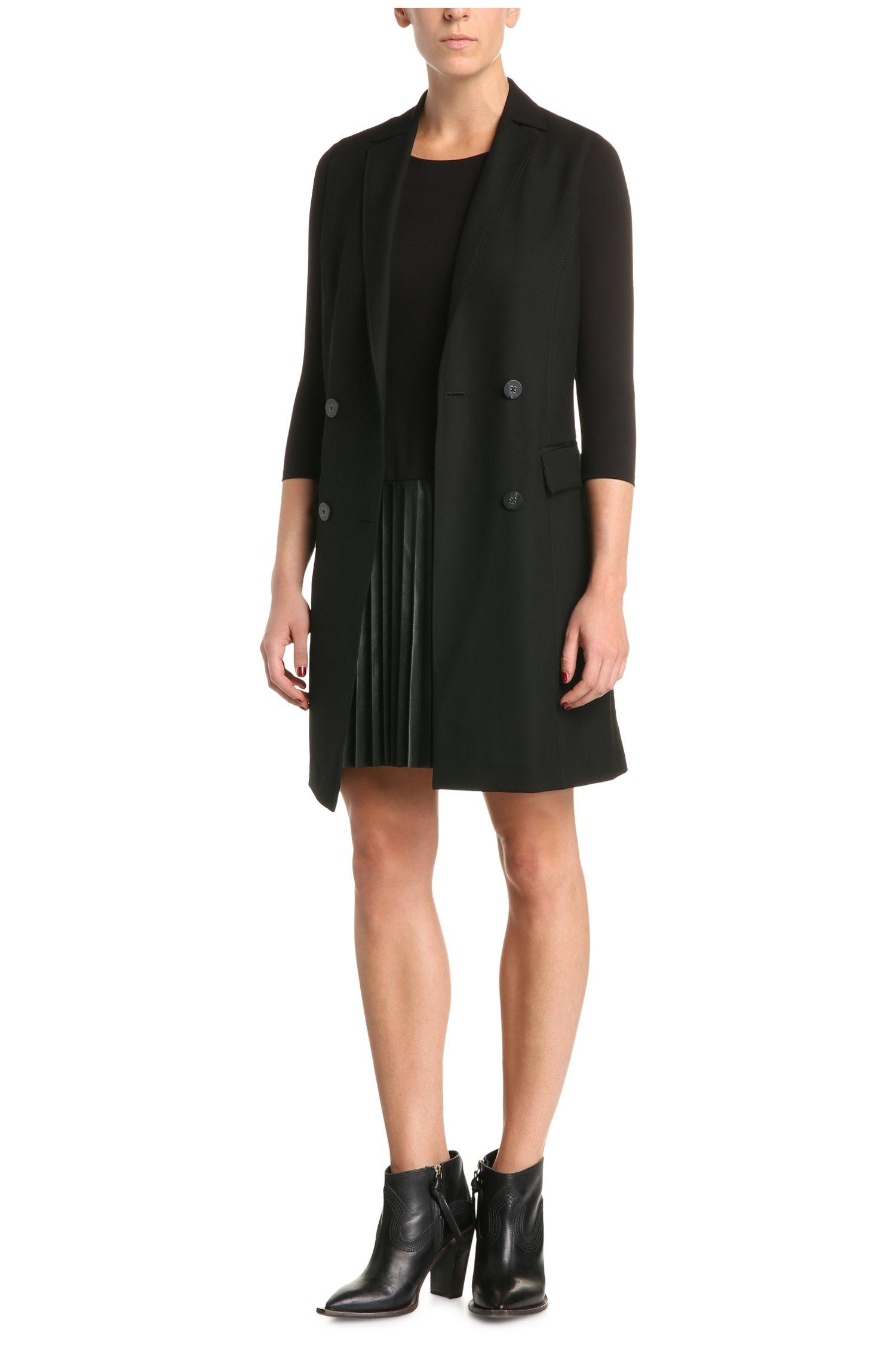 Robe Regular Fit en mélange de matières avec une jupe à effet cuir: «Apliti»