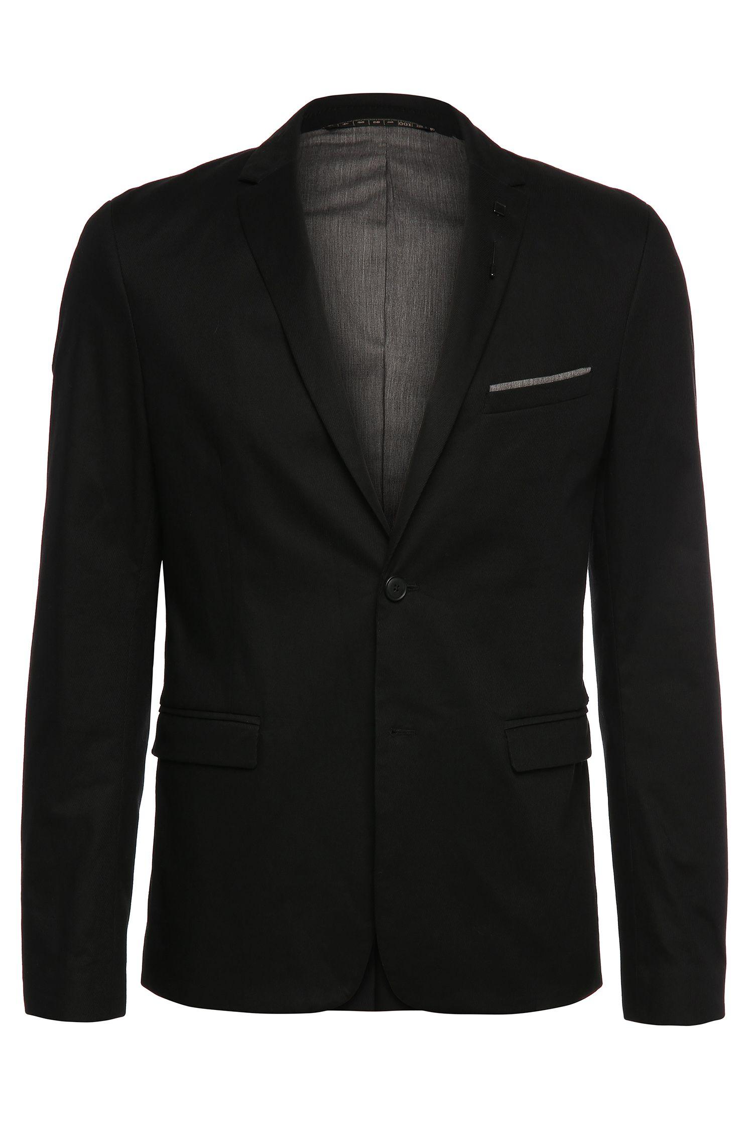 Veste de costume Slim Fit en coton extensible avec épinglette et pochette: «Benestretch6»