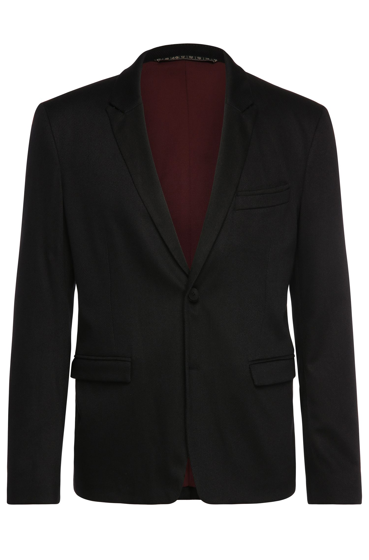 Slim-fit jacket in a stretchy cotton blend: 'BarkaaBS'