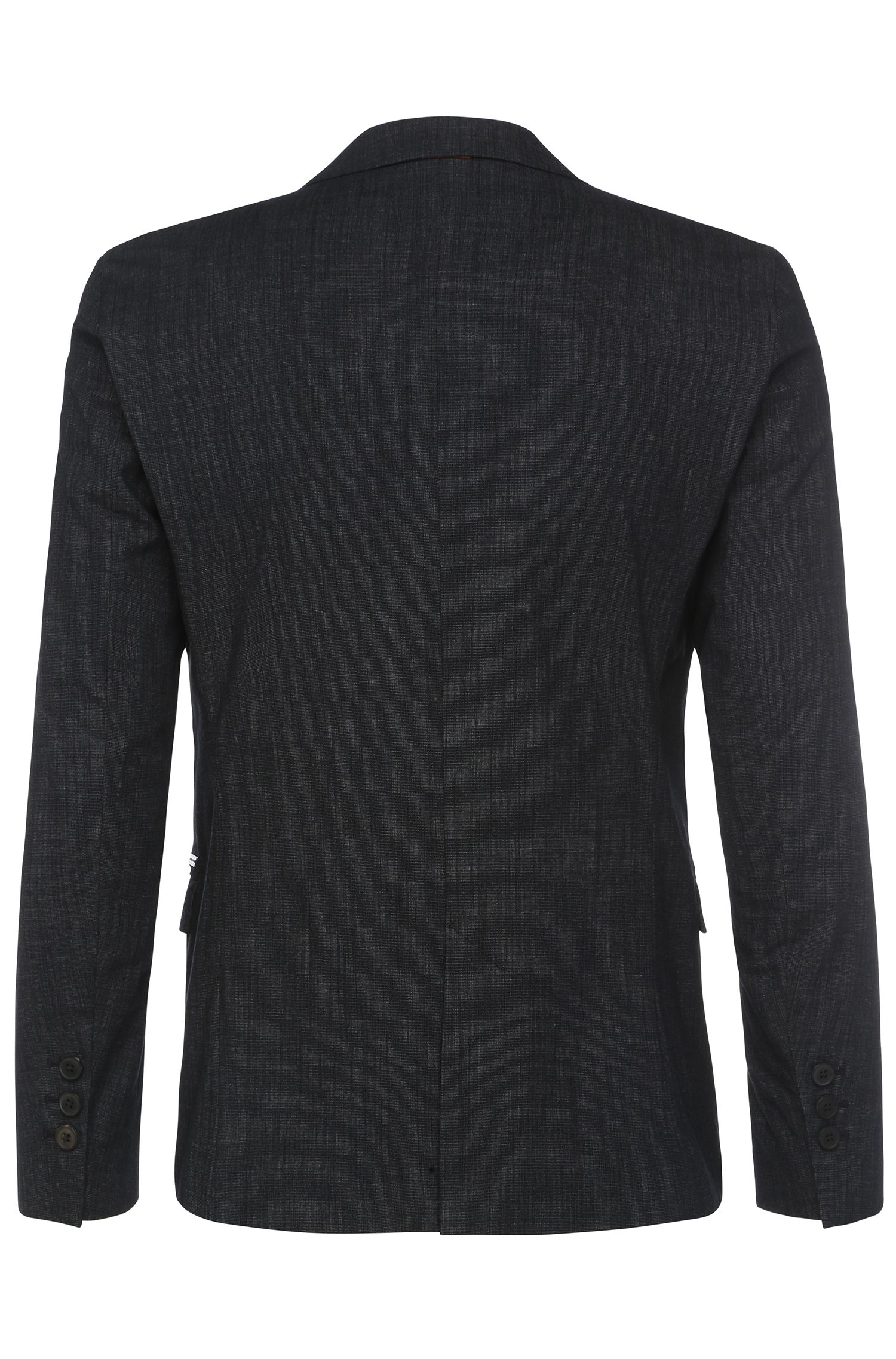 Veste de costume texturée Slim Fit, en coton mélangé extensible: «Bistock_BS»