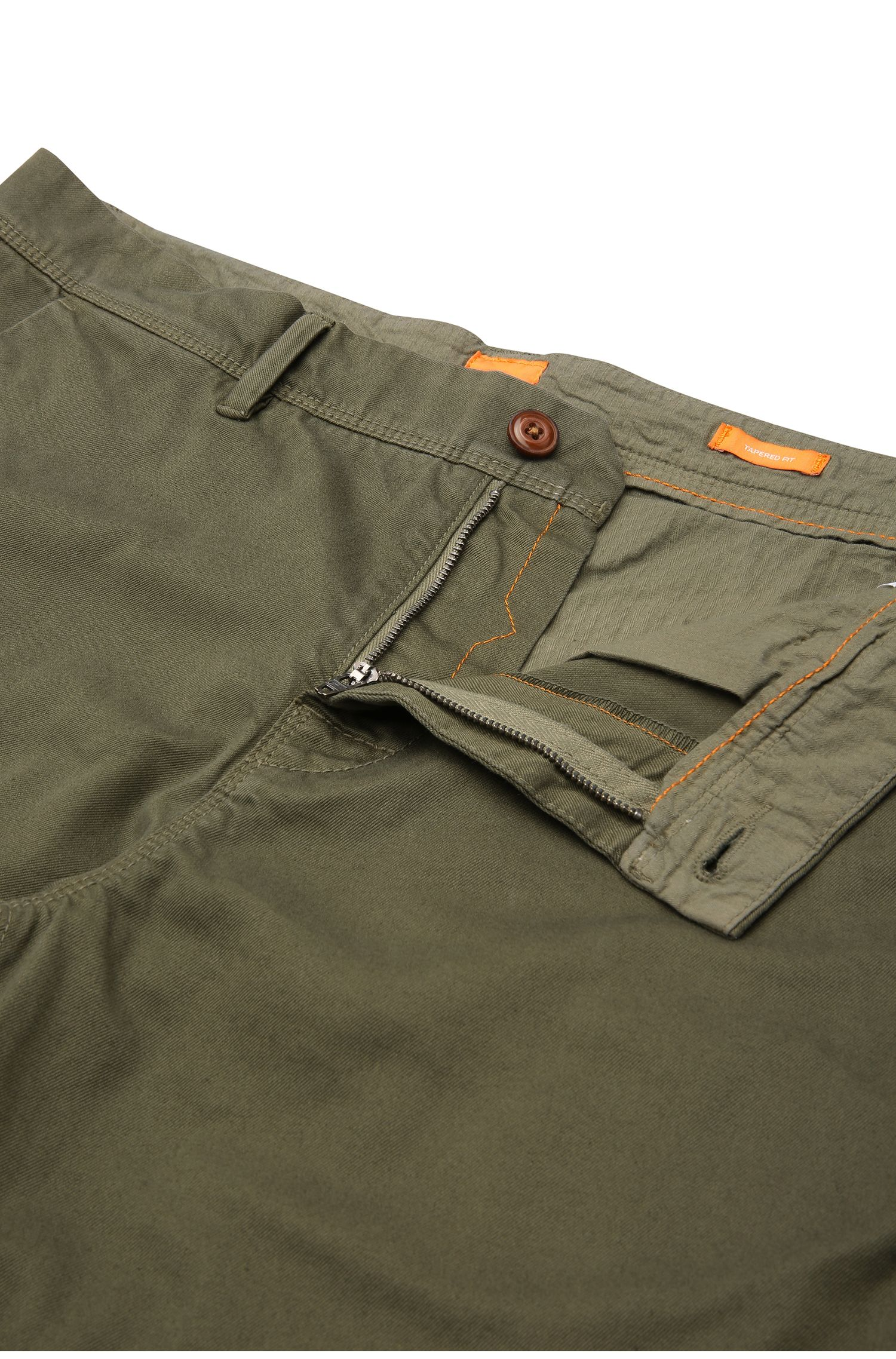 Tapered-Fit Chino aus elastischer Baumwolle: ´Schino-Tapered-D`