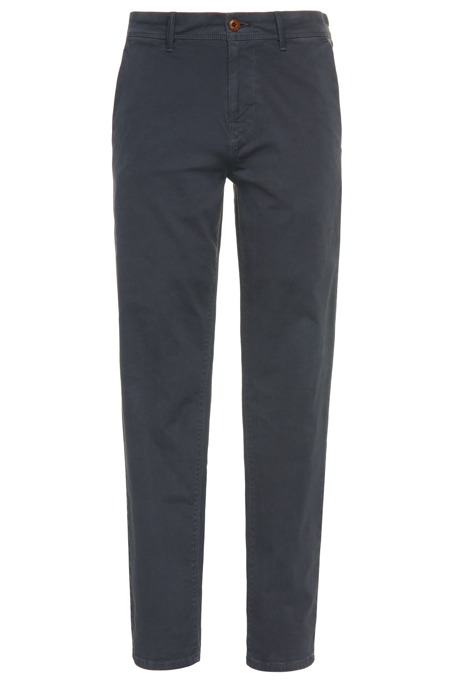 Chino Tapered Fit en coton extensible: «Schino-Tapered-D»