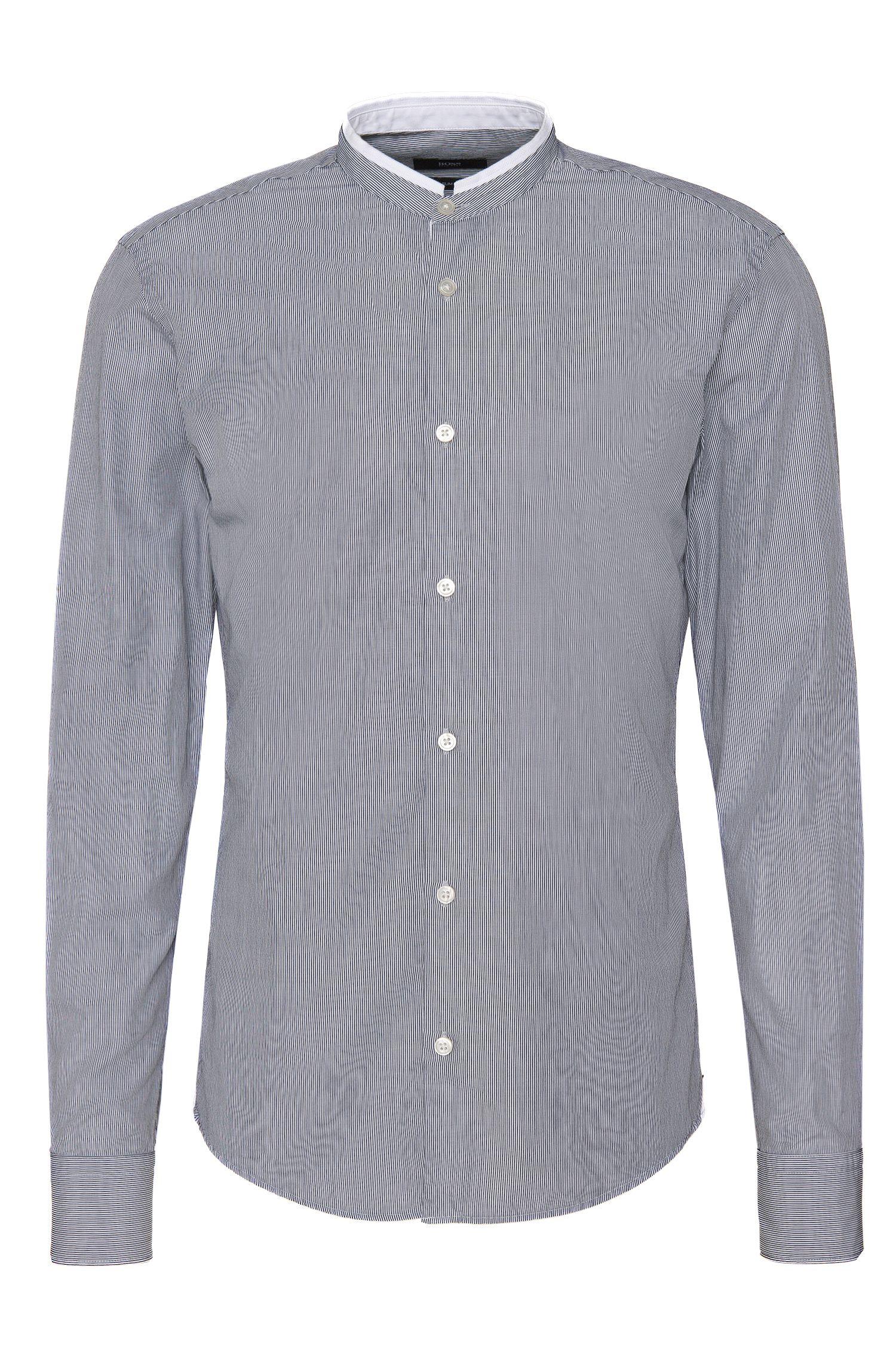Gestreiftes Slim-Fit Hemd aus Baumwolle: 'Rab_37F'