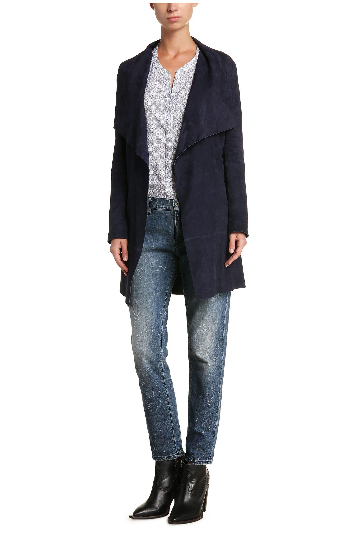 Gemusterte Bluse aus Baumwolle im Tunika-Stil: ´Efelize9`