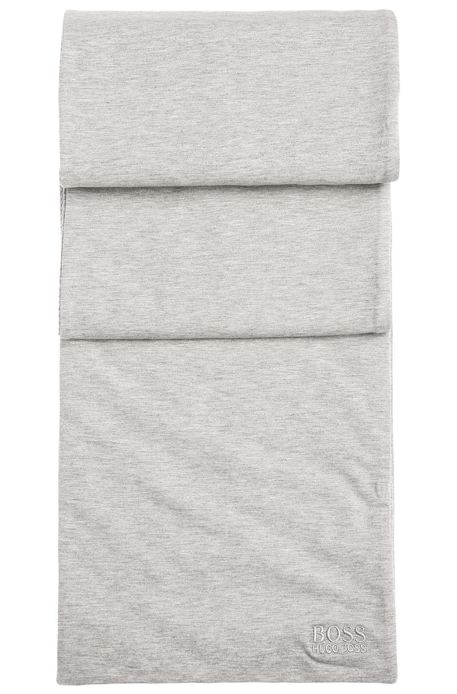 Écharpe réversible chinée en coton extensible, pourvue d'un rembourrage léger: «Scarf-Jersey»