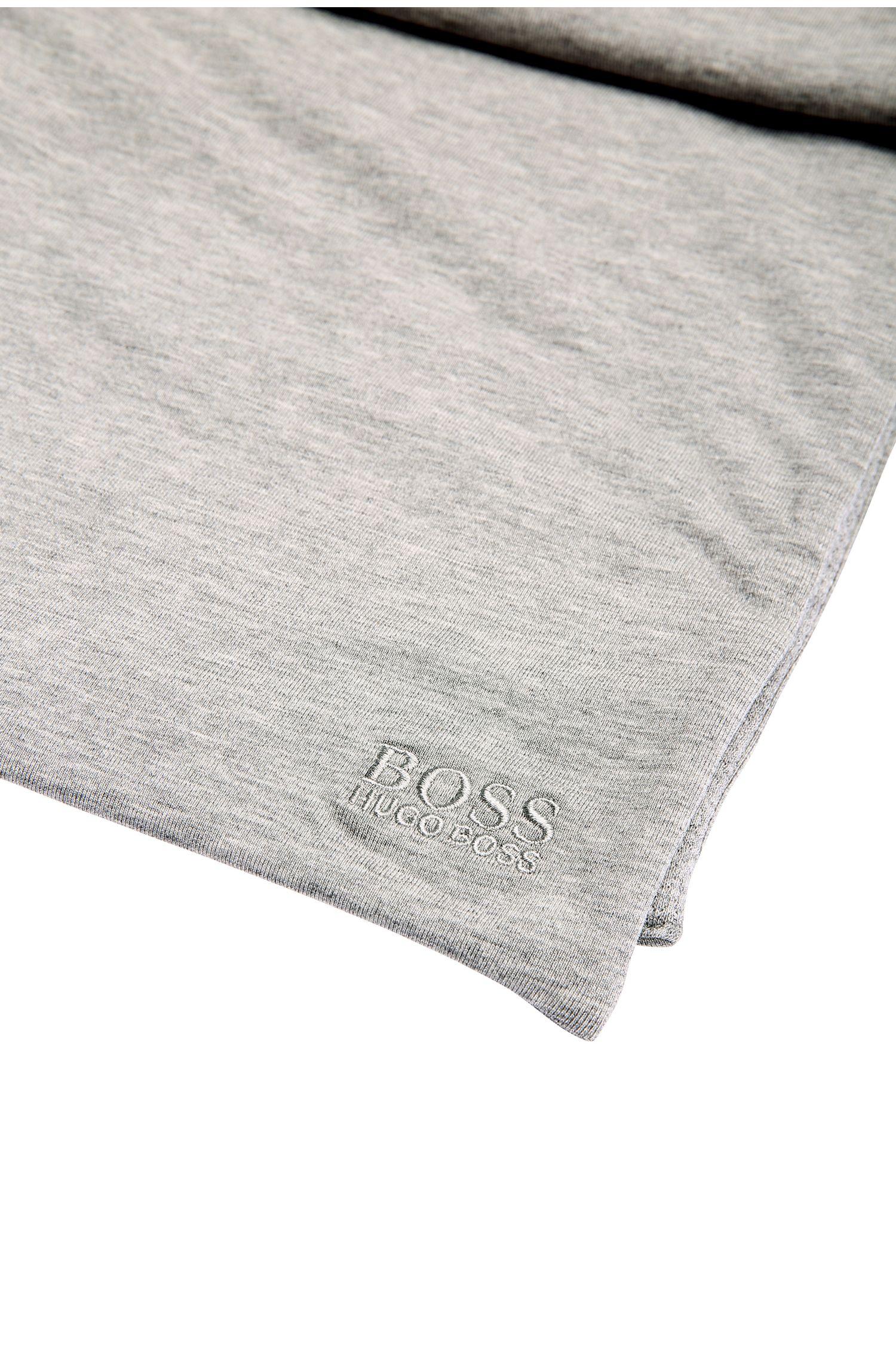 Melierter Wende-Schal aus elastischer Baumwolle mit leichter Füllung: ´Scarf-Jersey`