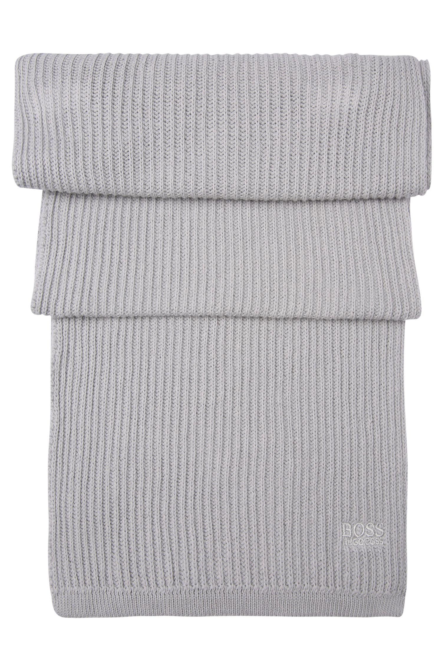 Set aus Mütze und Schal aus reiner Baumwolle: ´Gift-Set`