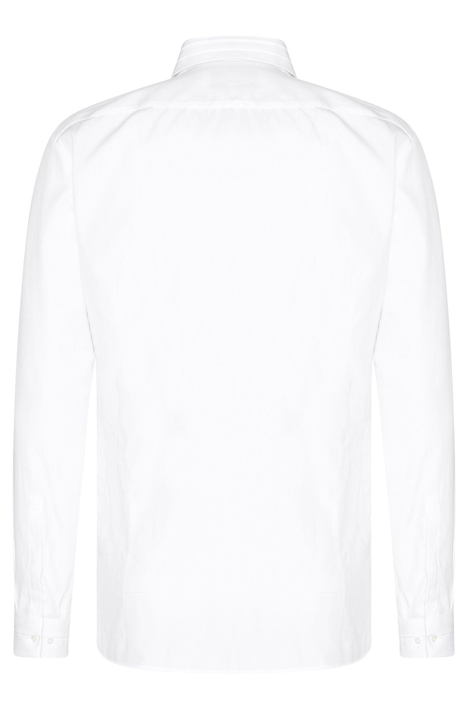 Effen slim-fit overhemd van katoen: 'Esid'