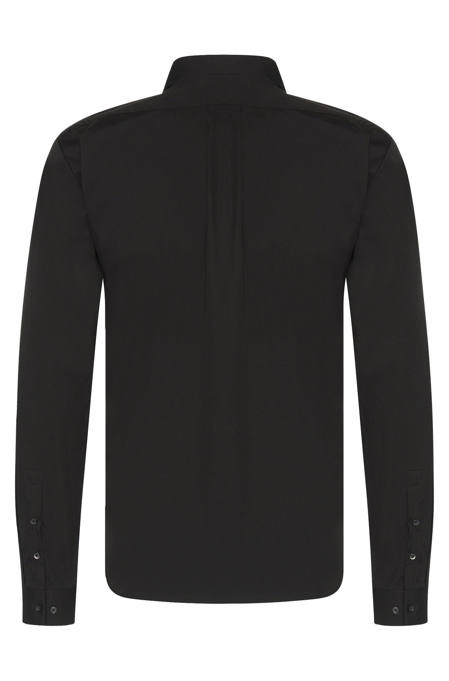 Unifarbenes Slim-Fit Hemd aus Baumwolle: 'Ero3'