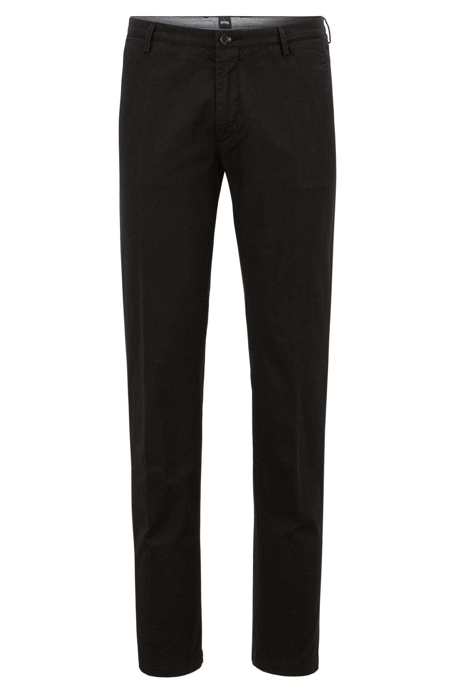 Slim-fit chinos in stretch cotton gabardine by BOSS Menswear