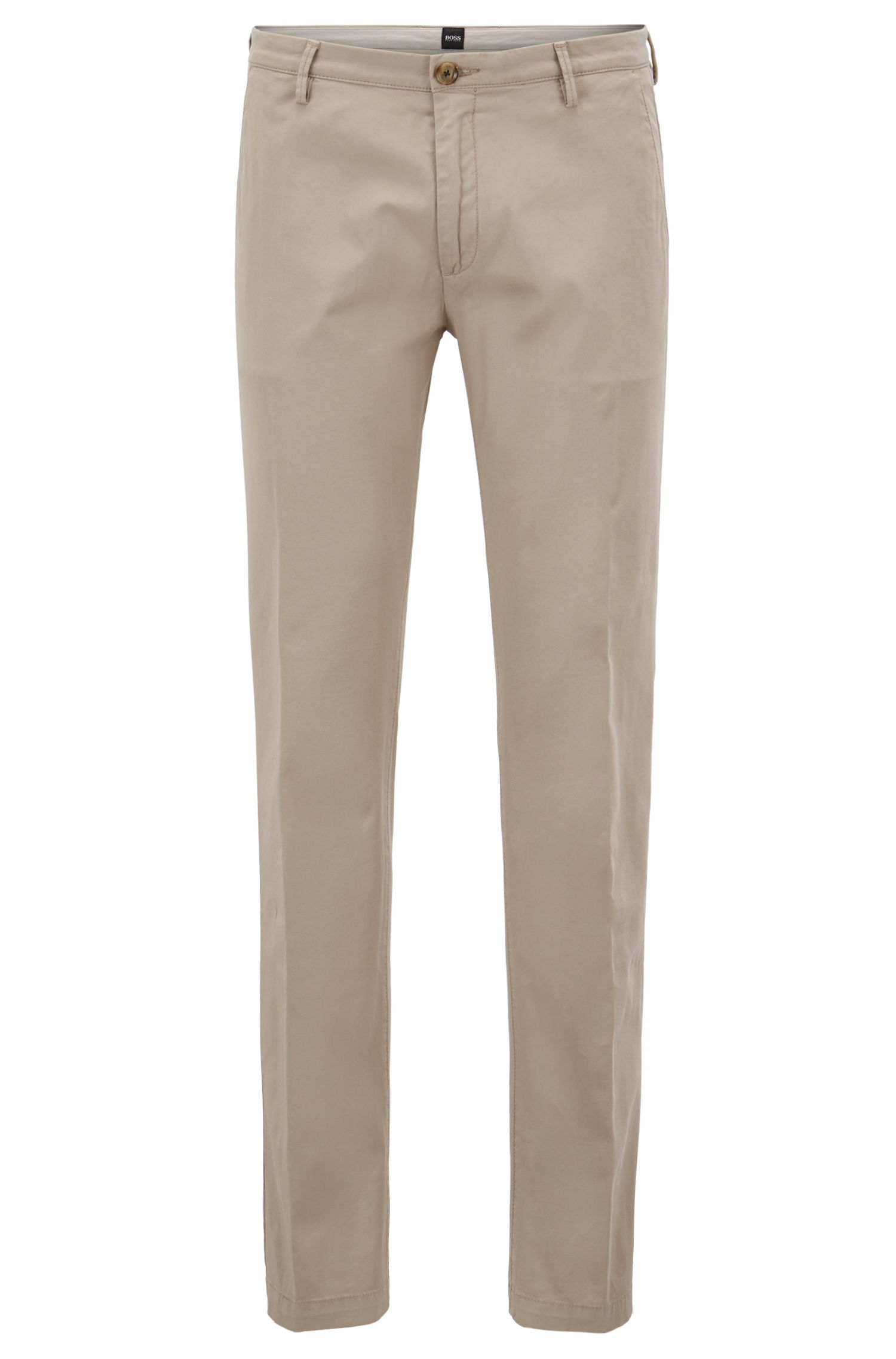 Slim-fit chinos in stretch cotton gabardine by BOSS Menswear
