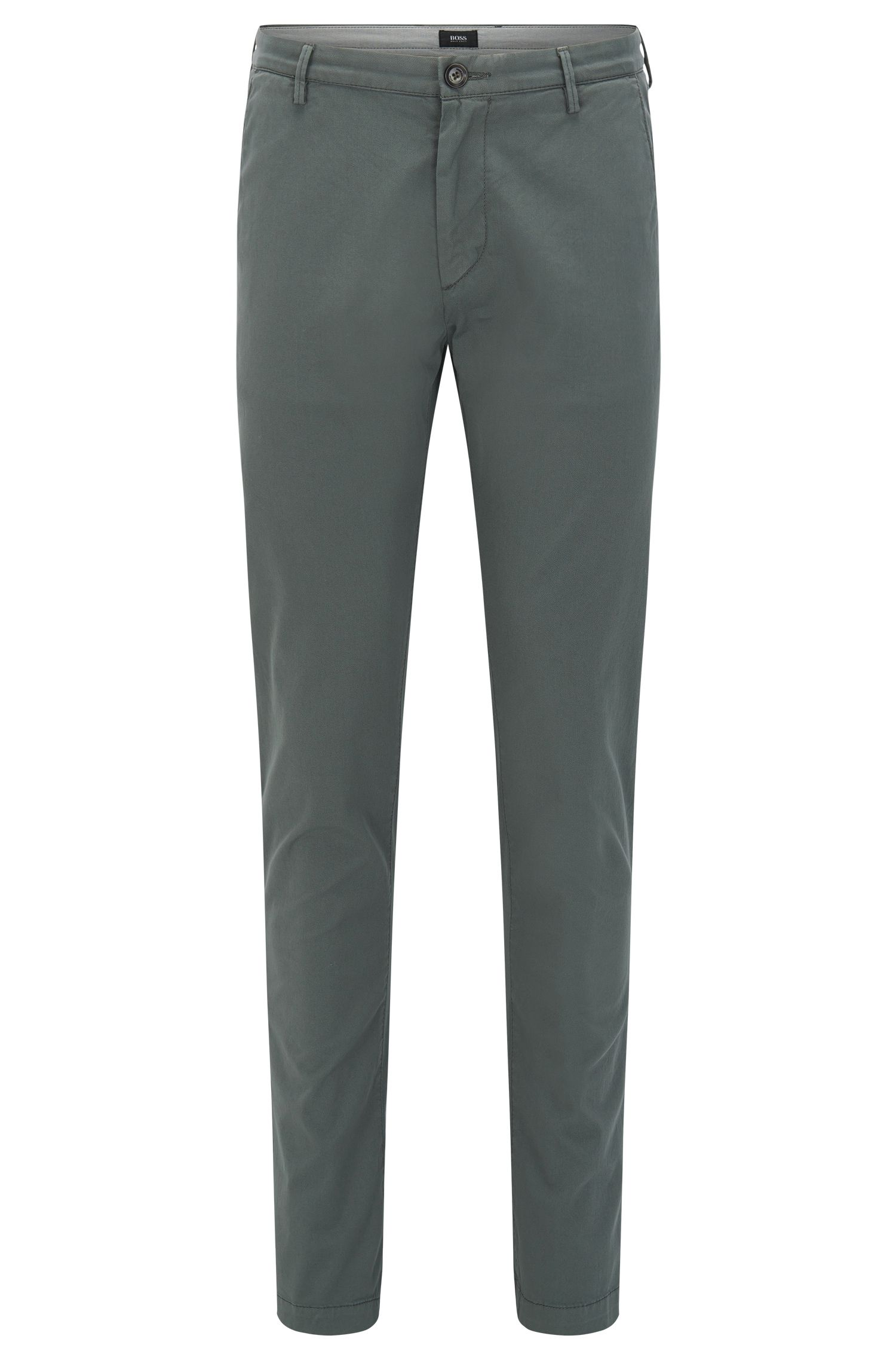 Slim-Fit Chinos aus Baumwoll-Gabardine mit Elasthan-Anteil von BOSS Menswear