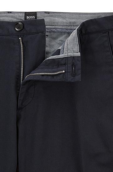 修身版弹力棉斜纹棉布裤,  402_暗蓝色