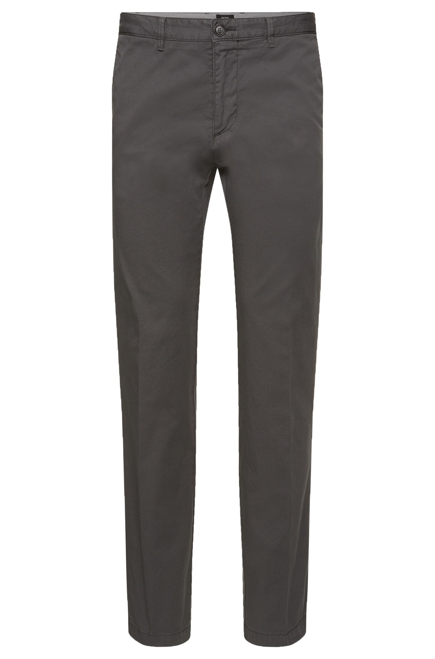 Chino BOSS Homme Regular Fit en gabardine de coton stretch