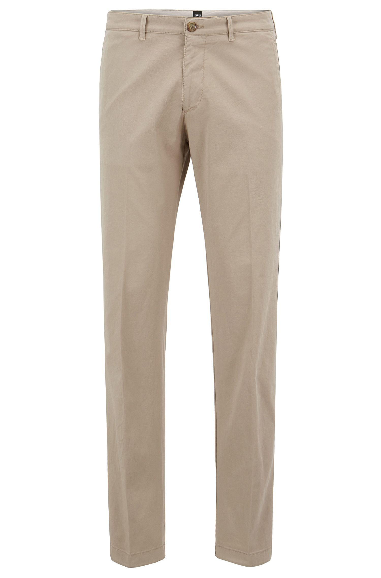 Chino BOSS Homme Regular Fit en gabardine de coton stretch