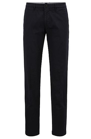 常规版弹力棉华达呢BOSS男士斜纹棉布裤,  402_暗蓝色