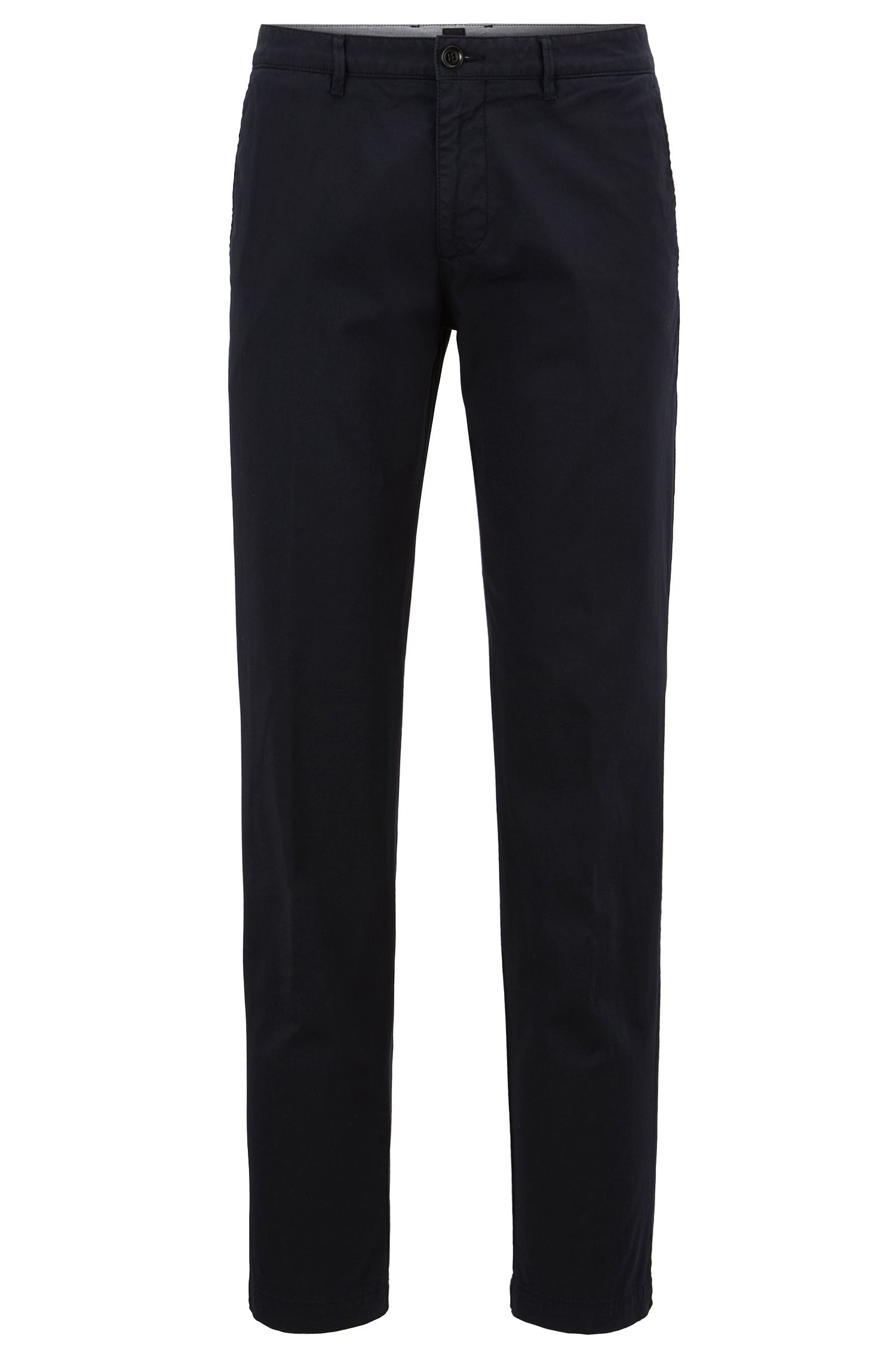 Regular-fit chino van gabardine van stretchkatoen van BOSS Menswear