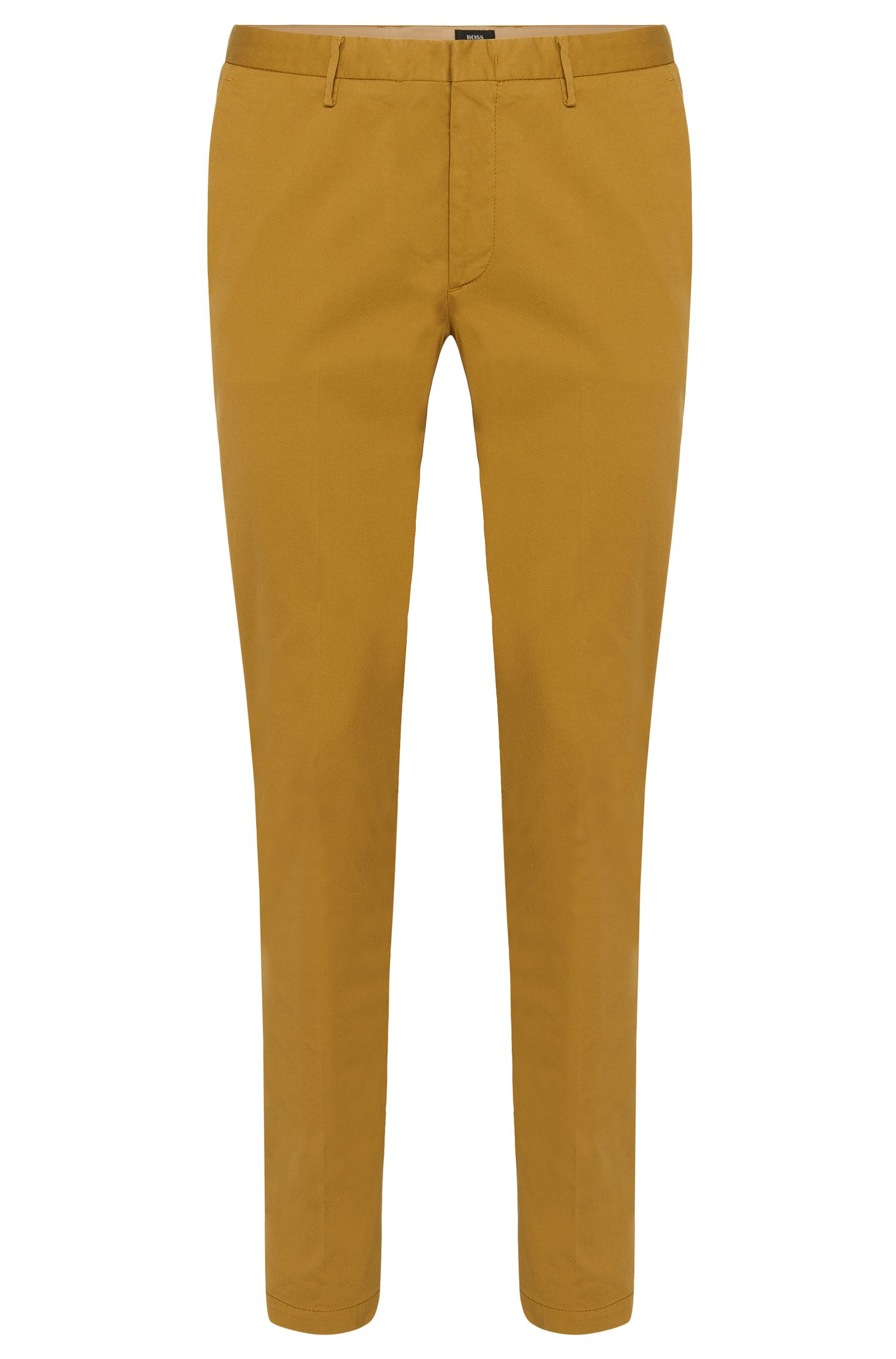 Slim-fit trousers in stretch cotton: 'Kaito3-D'