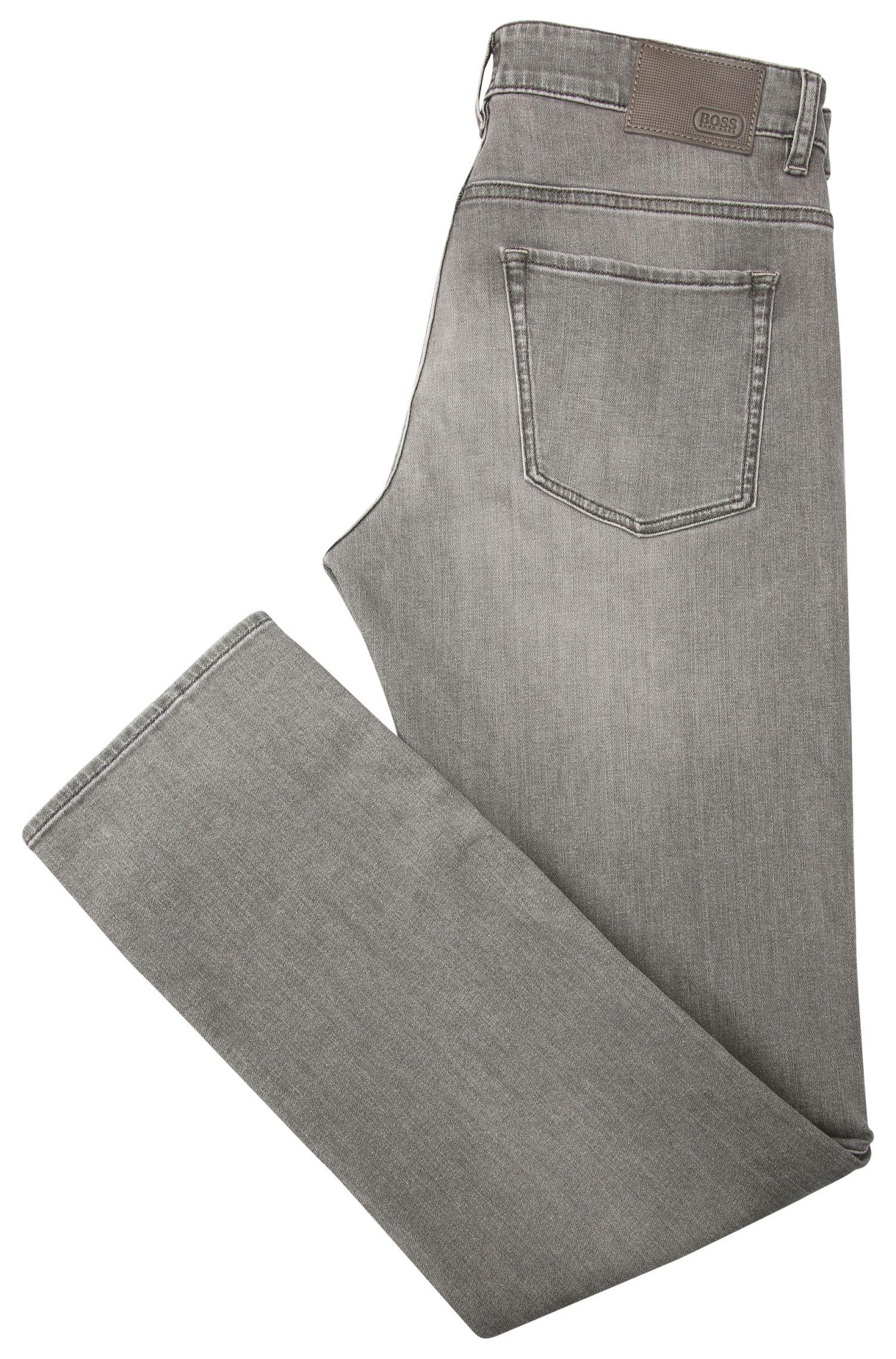 Slim-Fit Jeans aus elastischer Baumwolle mit Waschung: ´C-DELAWARE1`