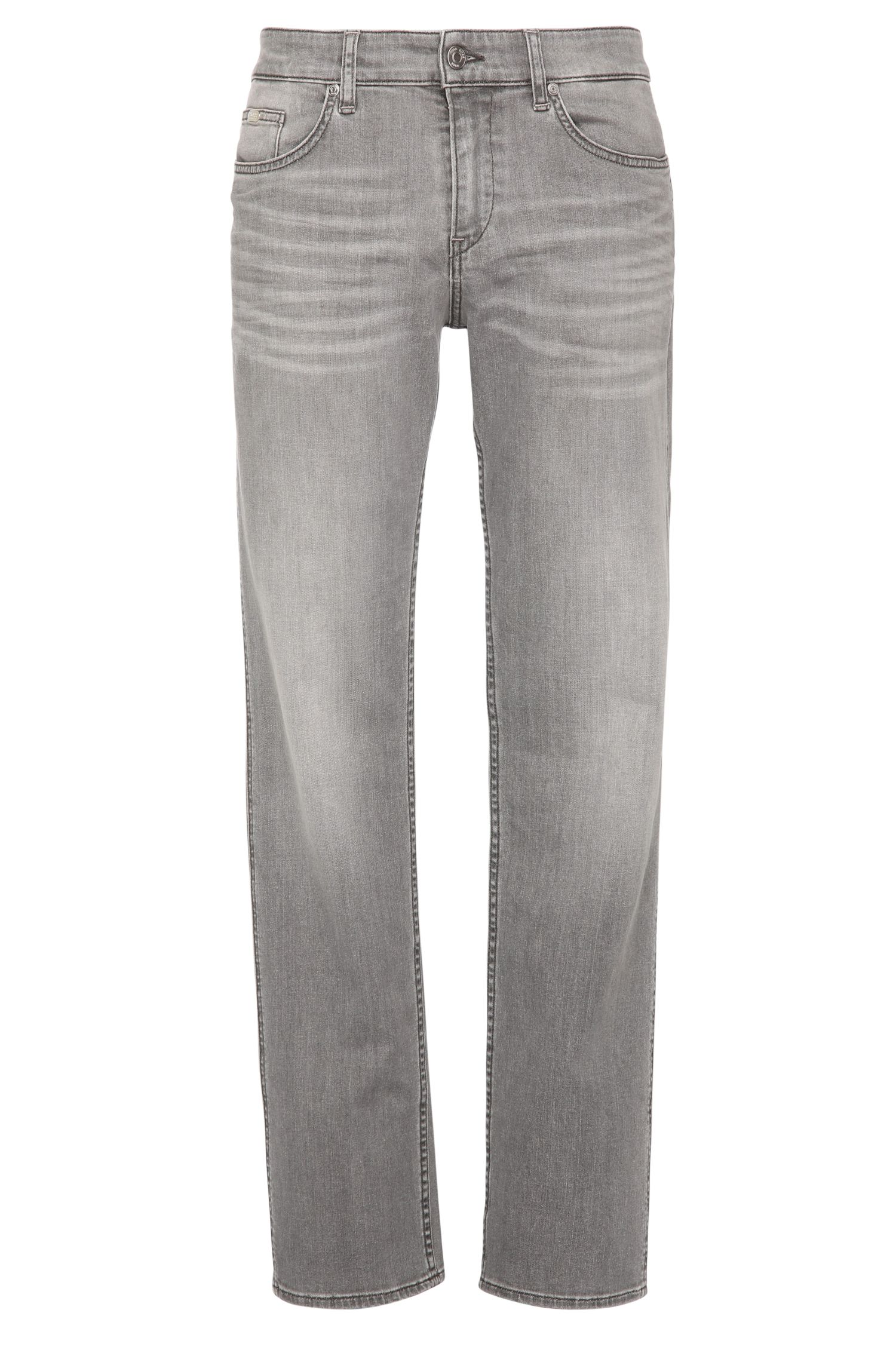 Slim-fit jeans in stretch cotton with wash: 'C-DELAWARE1'