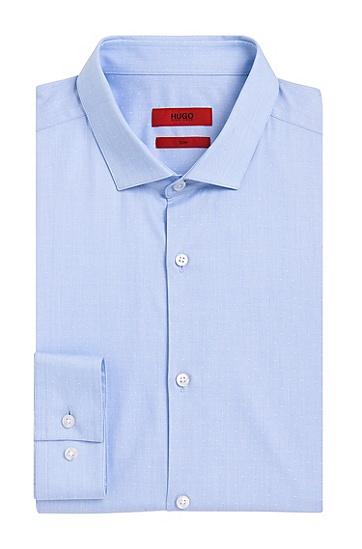 Fein gemustertes Slim-Fit Hemd aus Baumwolle: 'Erondo', Hellblau