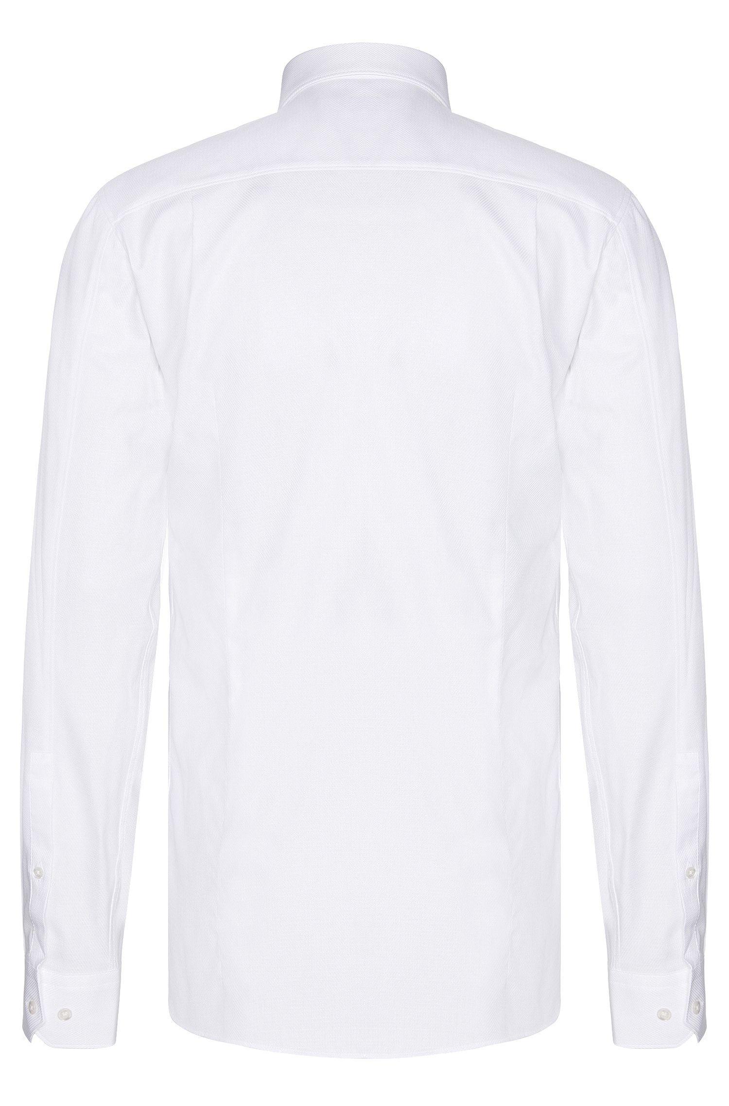 Fein strukturiertes Slim-Fit Hemd aus Baumwolle: 'Elisha'