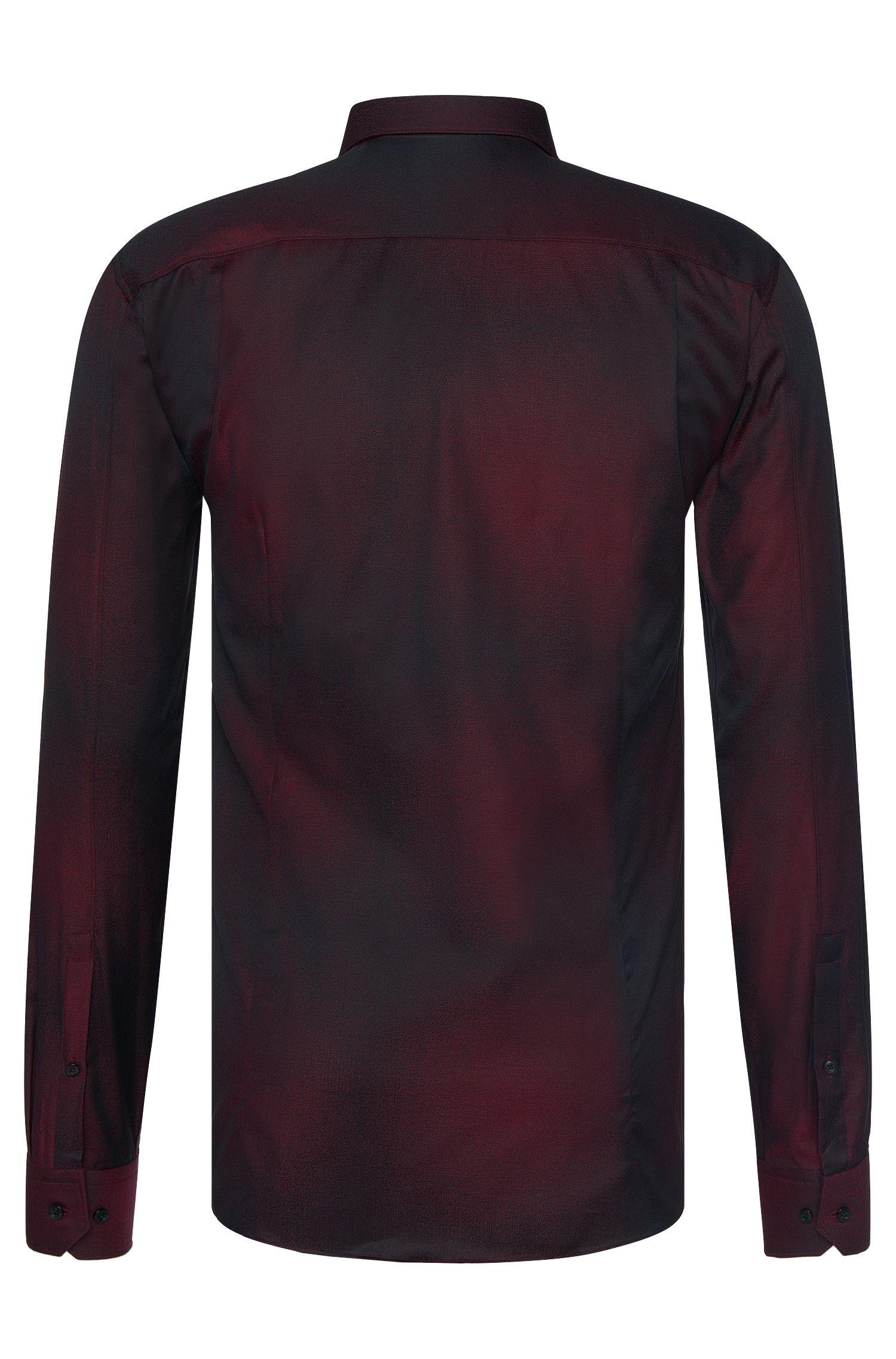 Chemise Slim Fit en coton ornée d'un dégradé de couleurs discret: «Elisha»