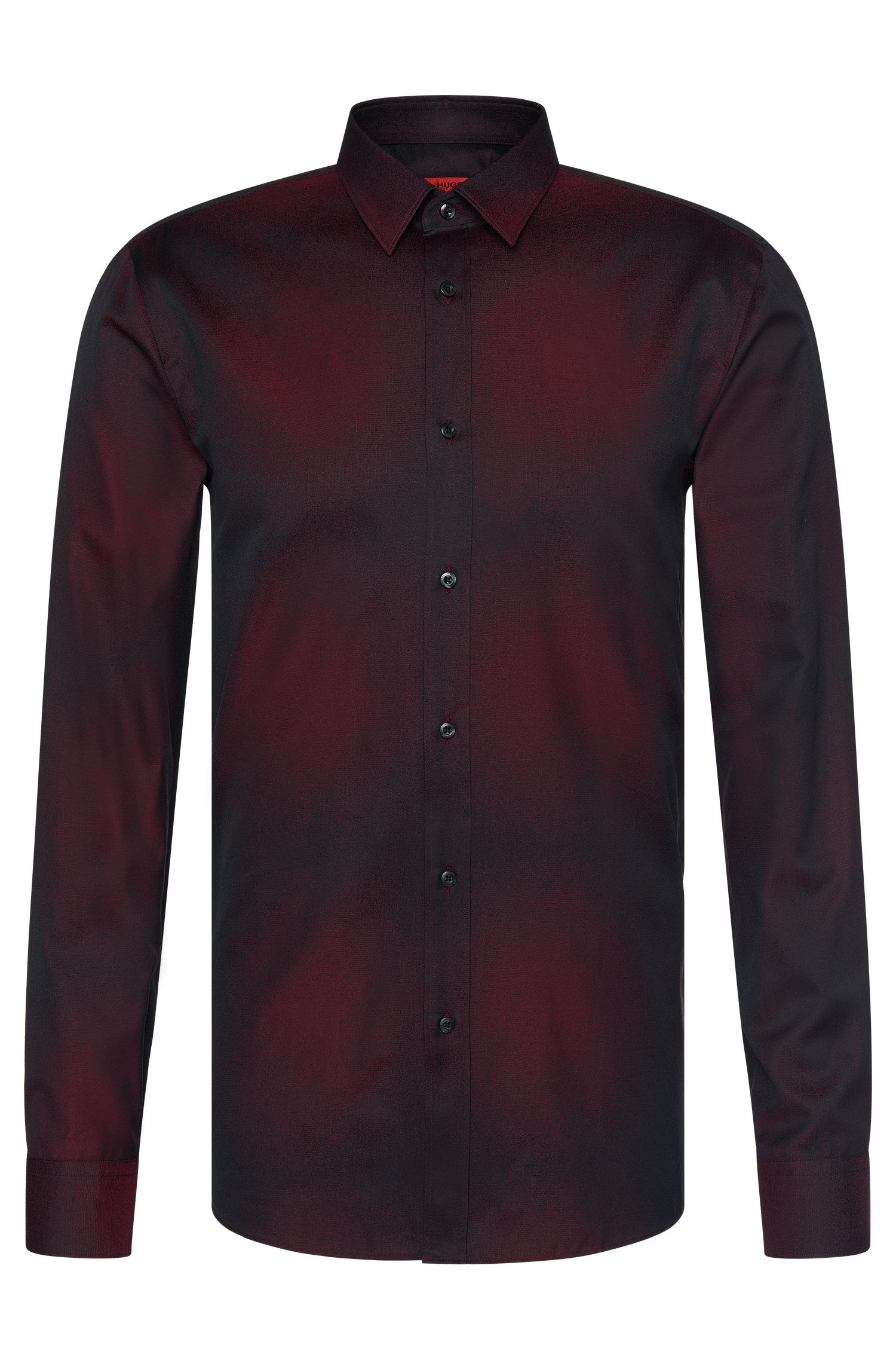 Slim-fit shirt in cotton with subtle colour graduation: 'Elisha'