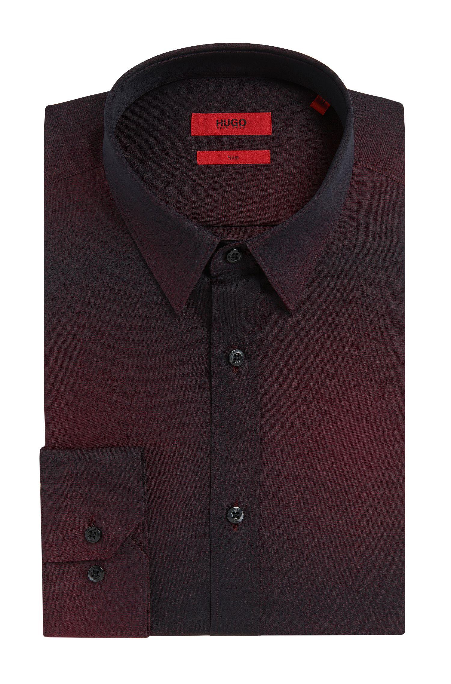 Slim-Fit Hemd aus Baumwolle mit dezentem Farbverlauf: 'Elisha'