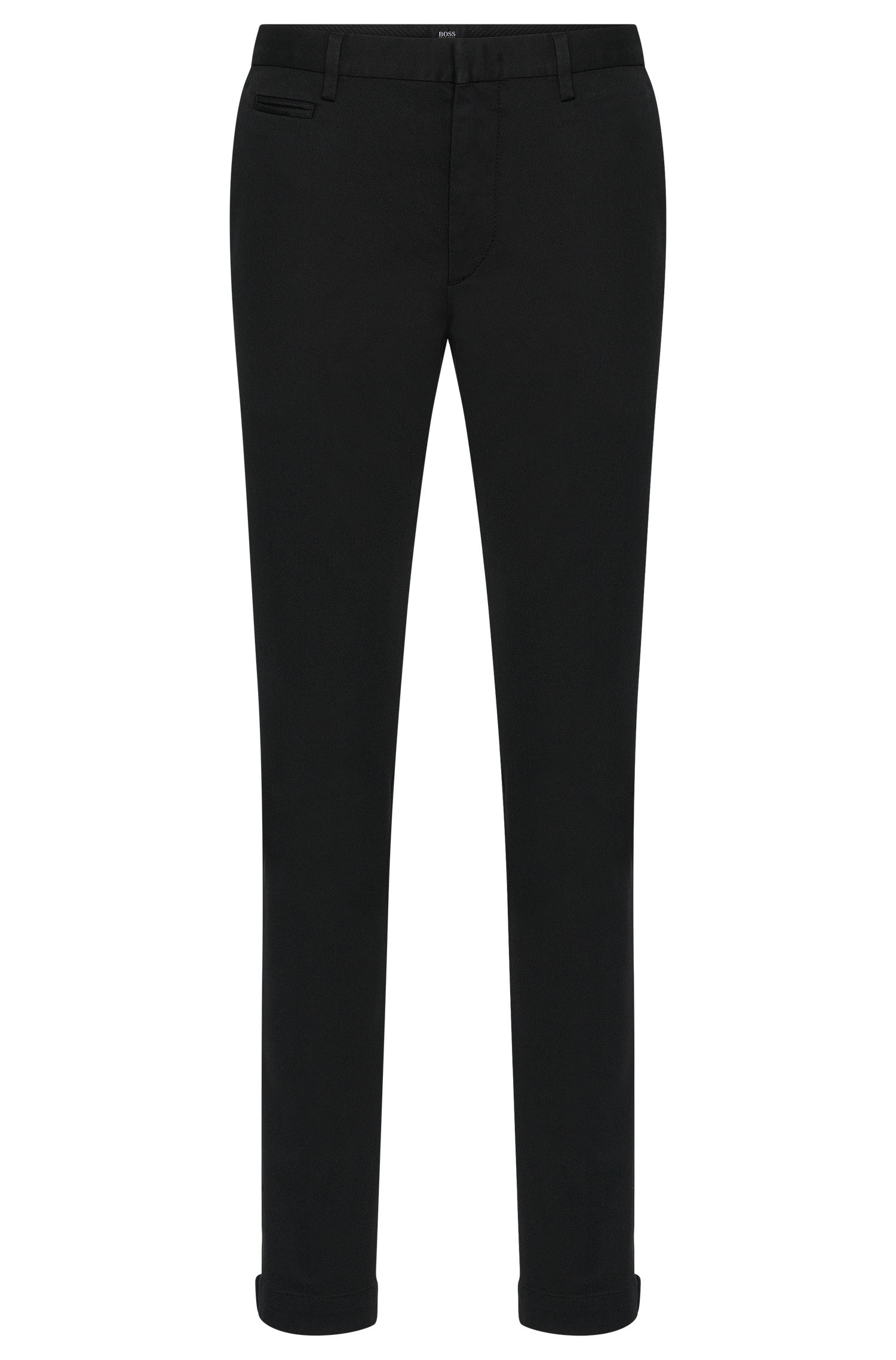 Chino Slim Fit en coton stretch et au discret motif structuré: «Kaito3-5-W»