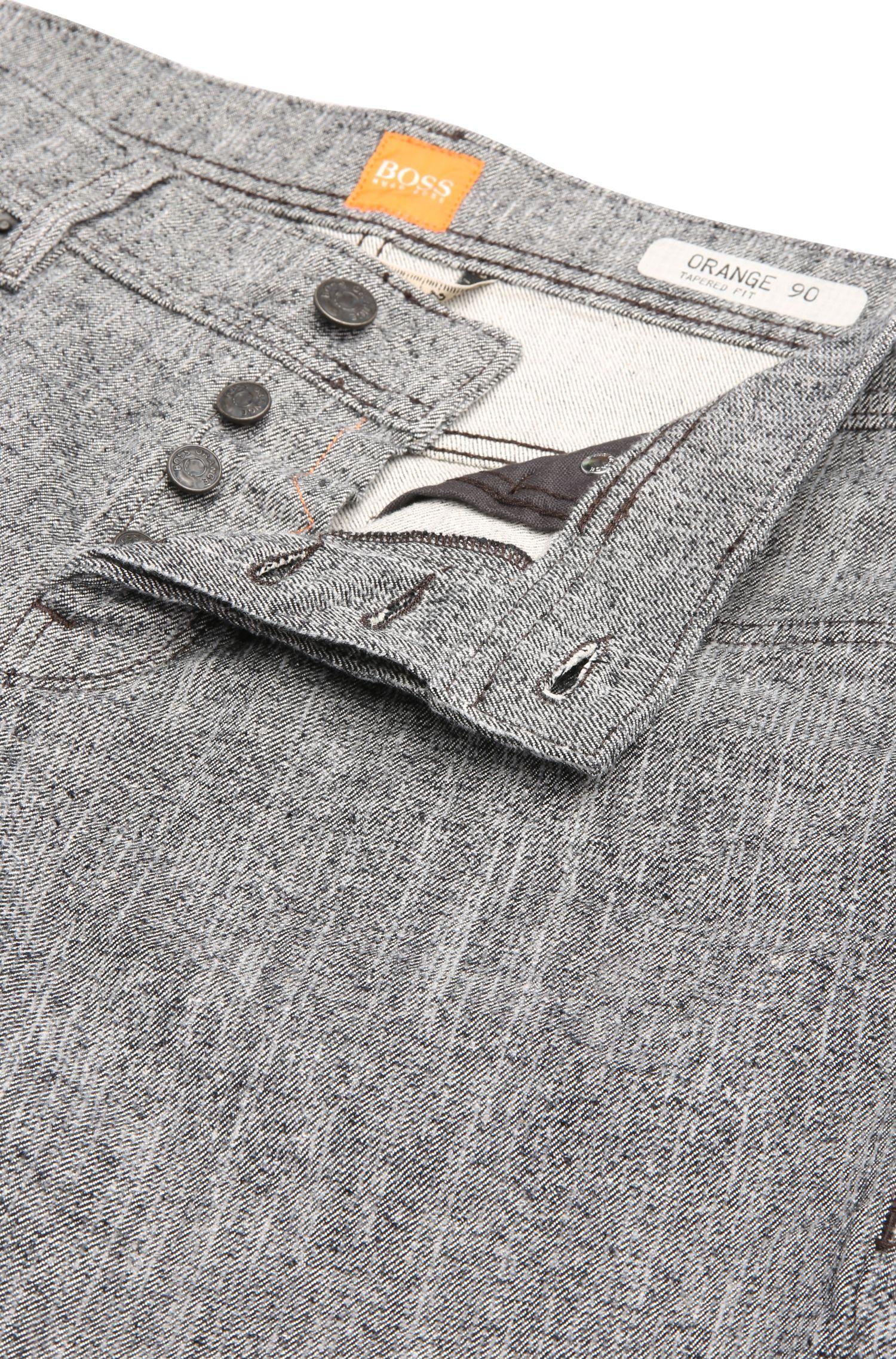 Strukturierte Tapered-Fit Jeans aus Stretch-Baumwolle: ´Orange90`