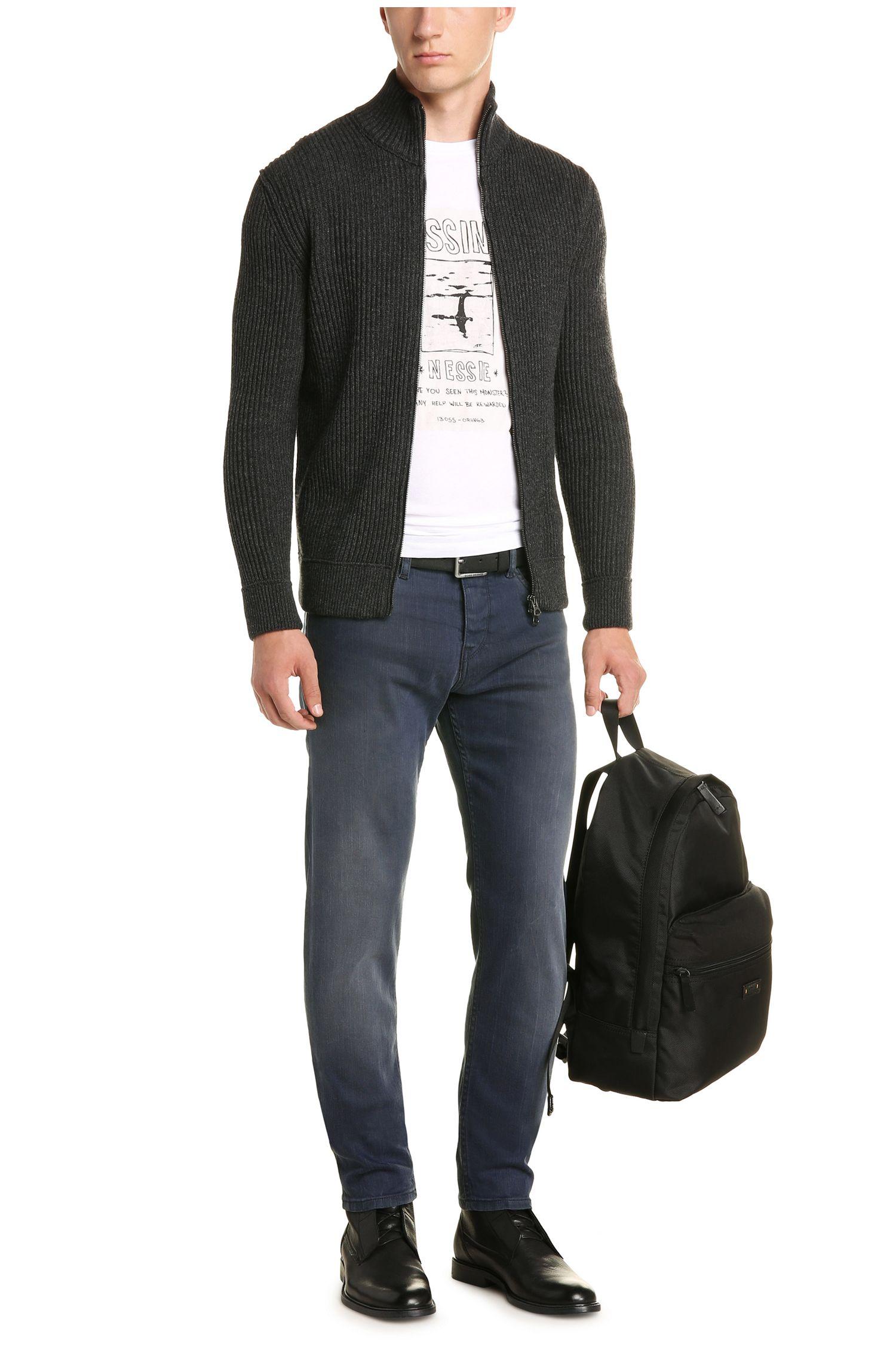 Tapered-Fit Jeans aus elastischem Baumwoll-Mix: ´Orange90`