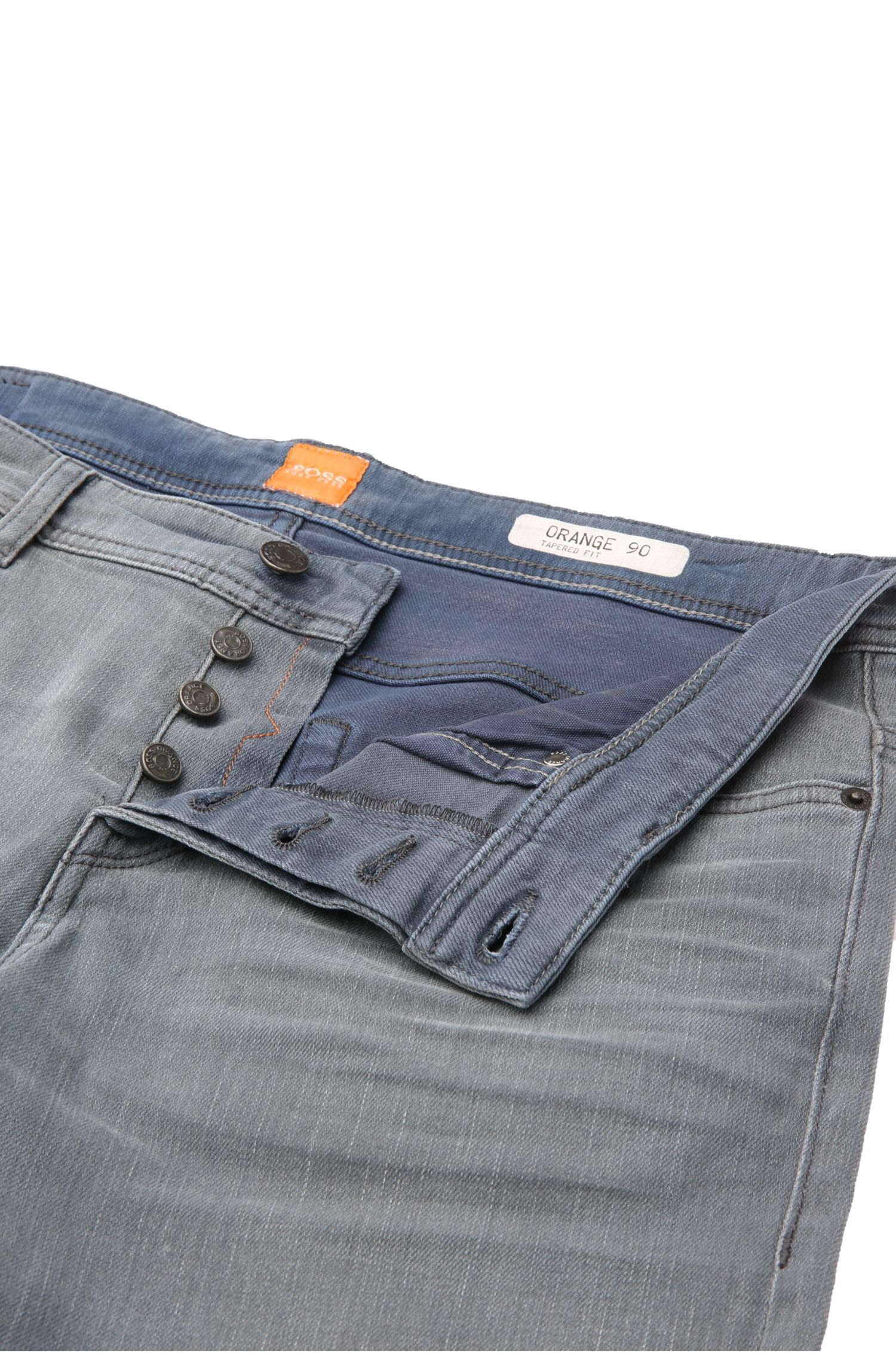 Tapered-Fit Jeans aus elastischer Baumwolle: ´Orange90`