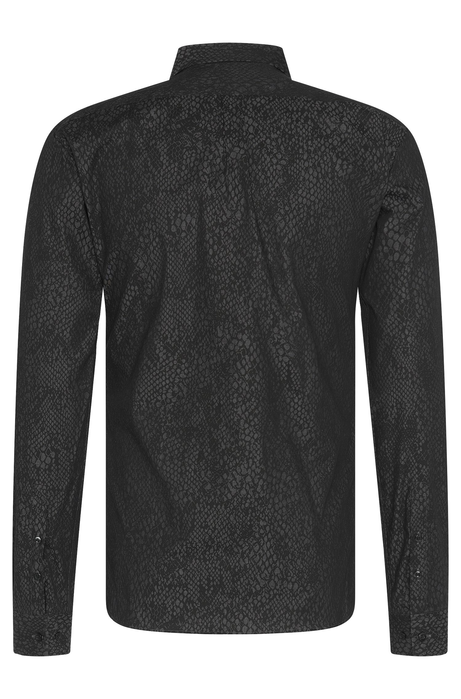 Chemise Slim Fit en coton stretch à motif : « Ero3 »