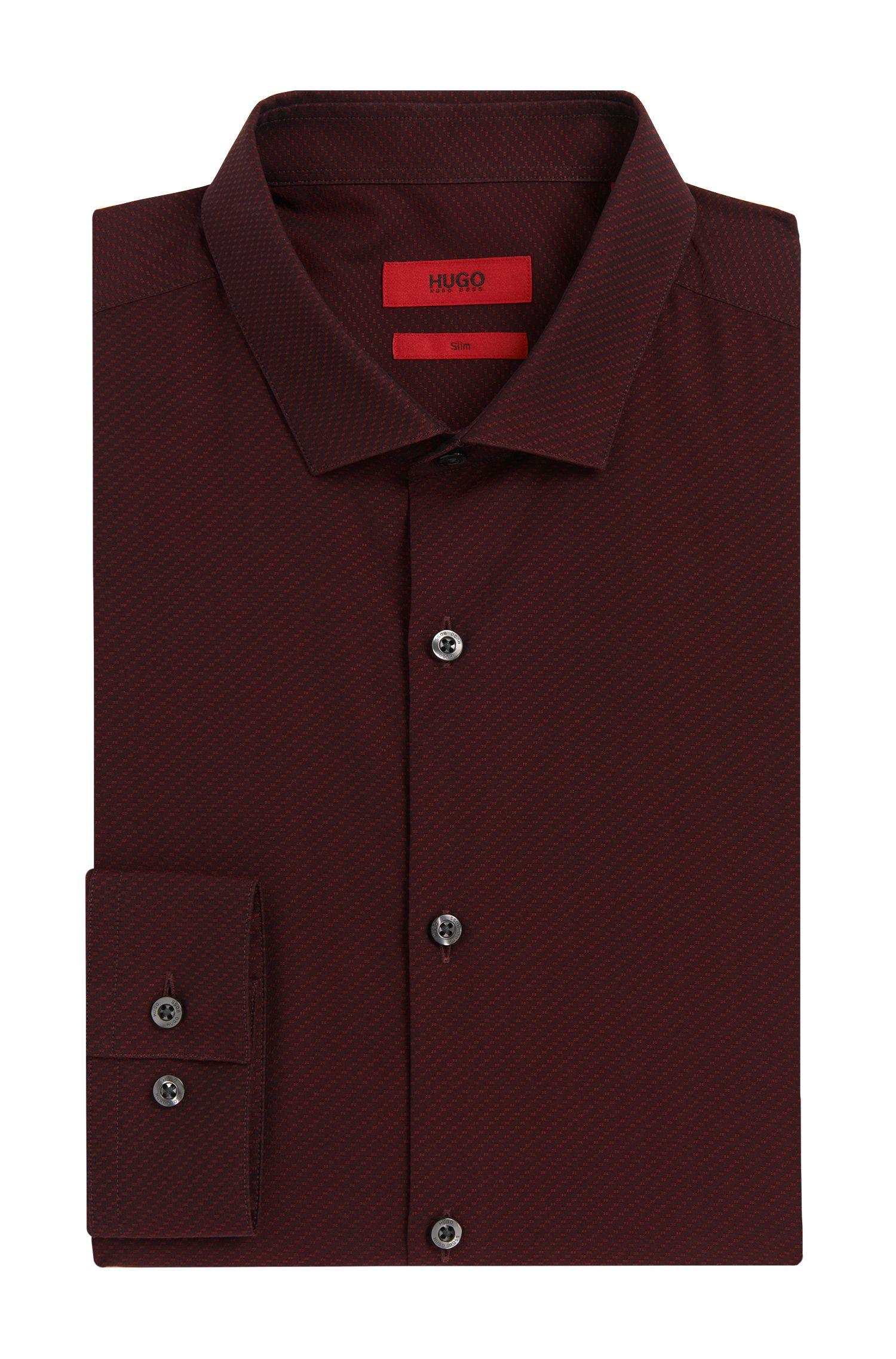 Chemise Slim Fit en coton à motif structuré: «Erondo»