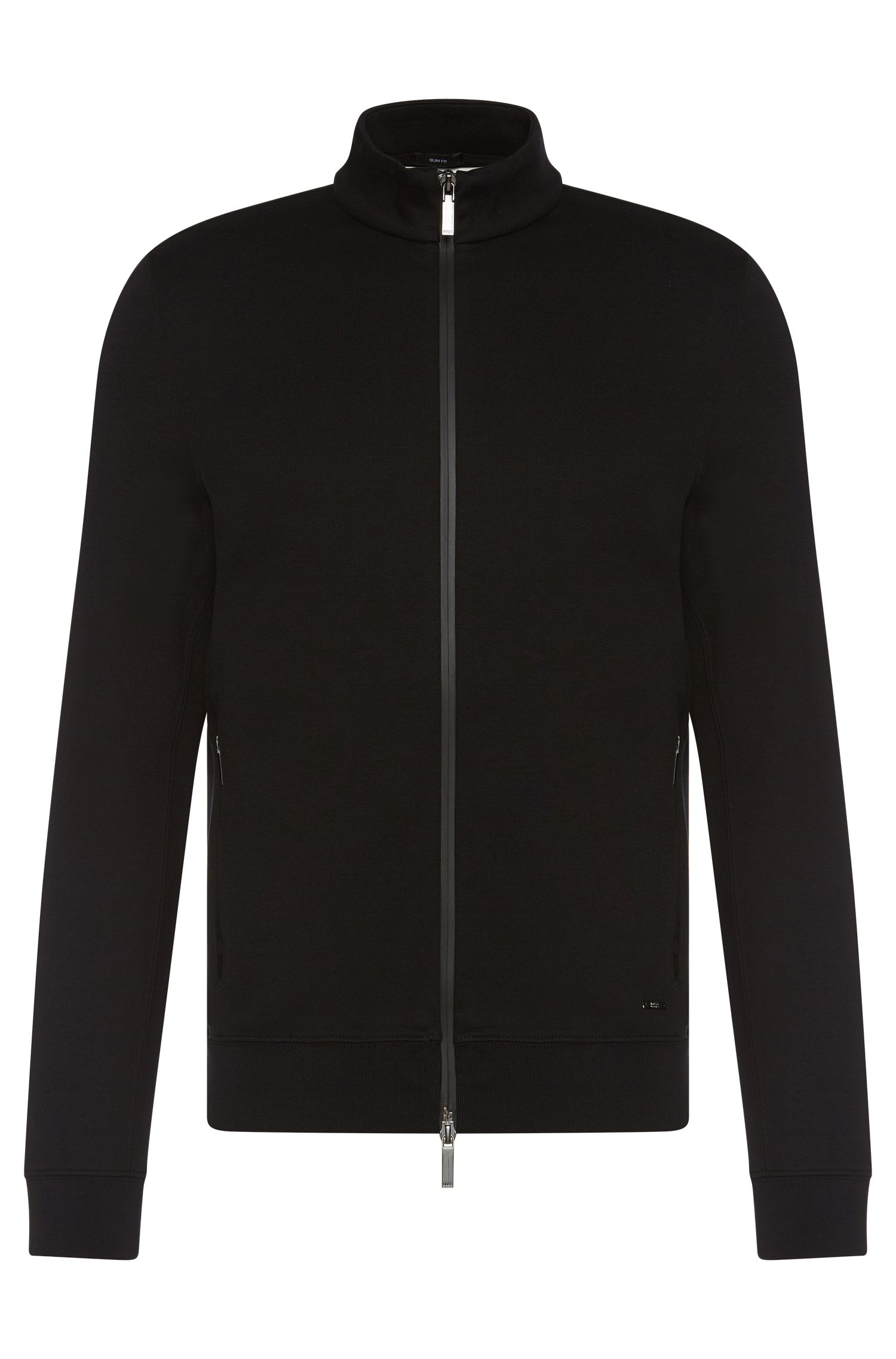 Blouson sweat Slim Fit, en coton mélangé chiné : « Soule 06 »