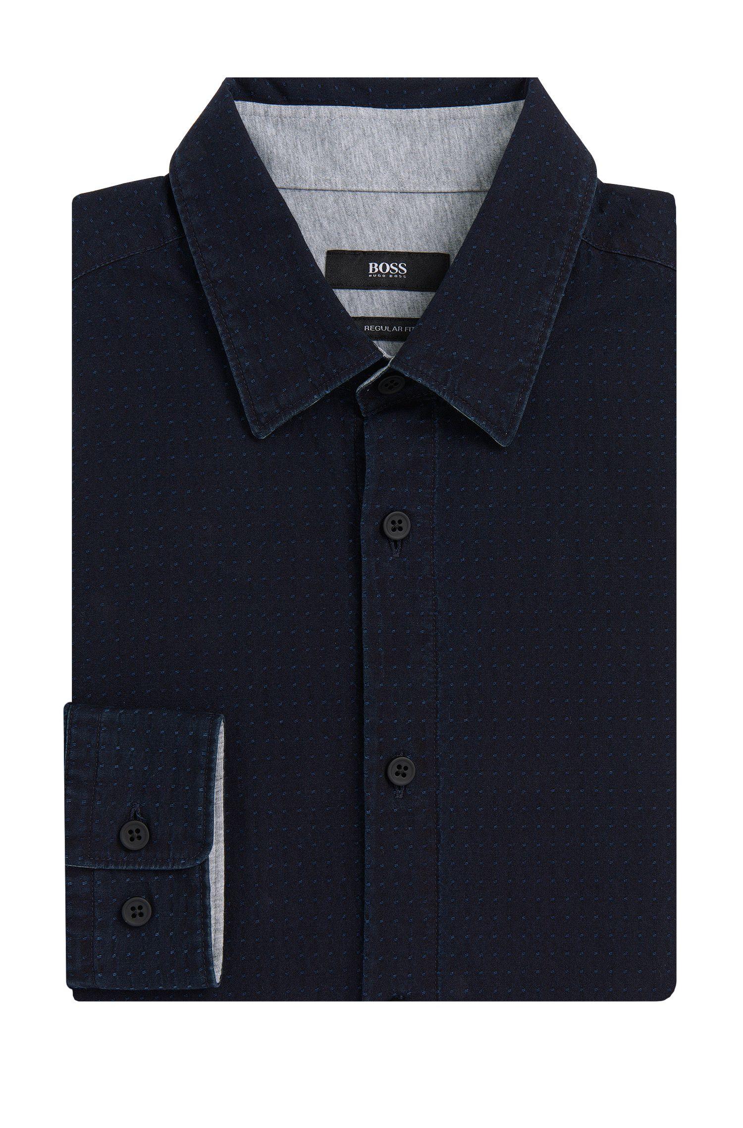 Chemise Regular Fit en coton avec doublure en jersey: «Loreno»