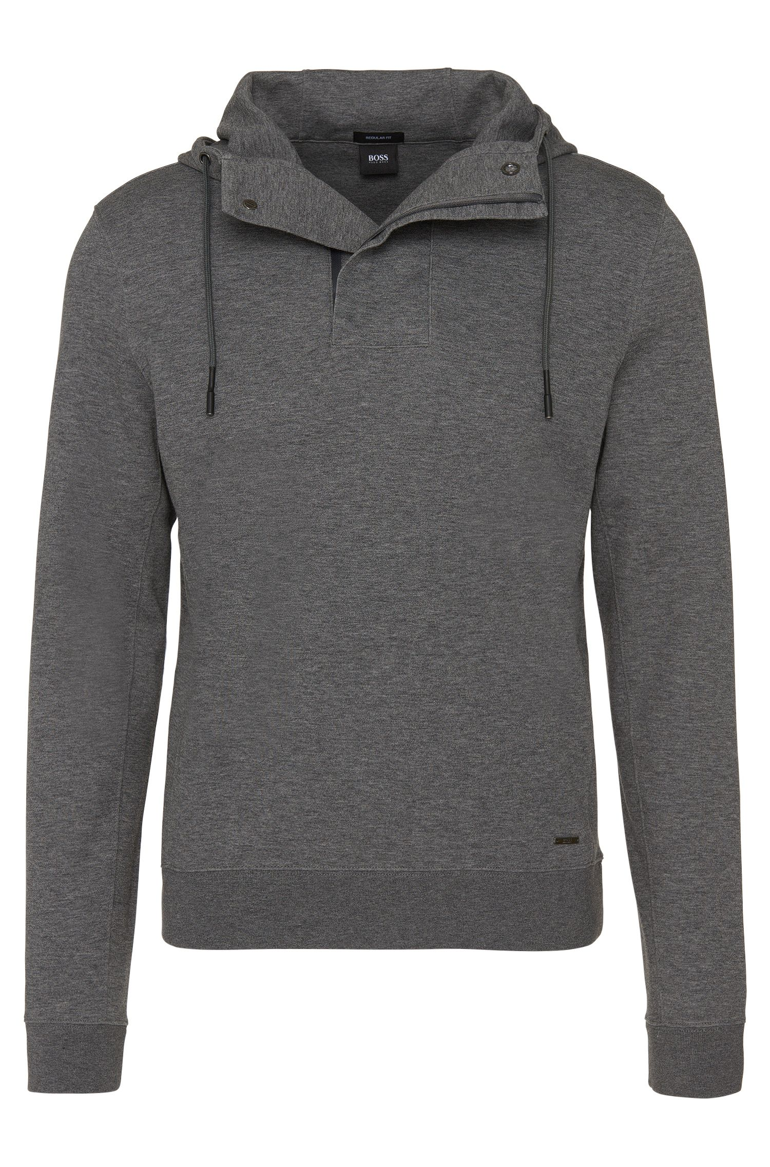 Regular-Fit Kapuzen-Sweatshirt aus Baumwoll-Mix: 'Seeger 02'