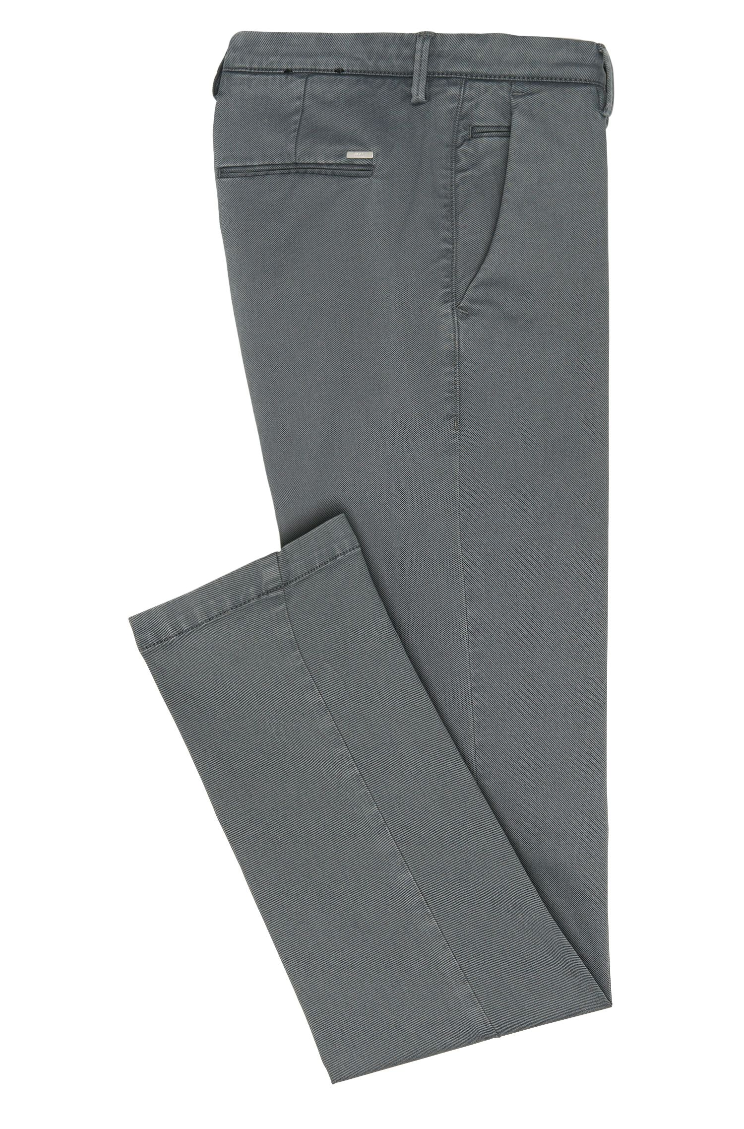 Fein geriffelte Slim-Fit Chino aus Stretch-Baumwolle: 'Rice3-1-D'