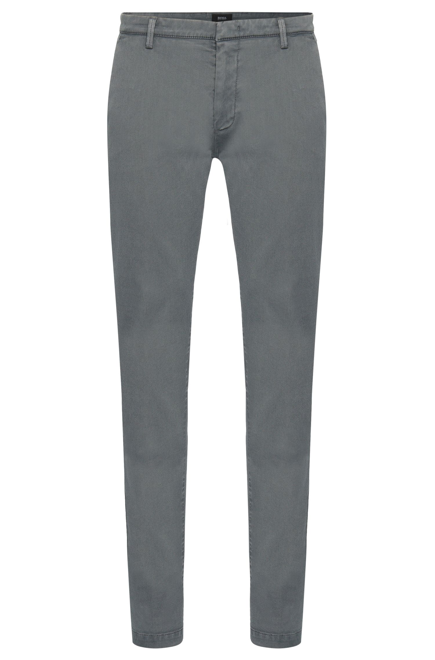 Chino Slim Fit finement côtelé en coton extensible : « Rice3-1-D »